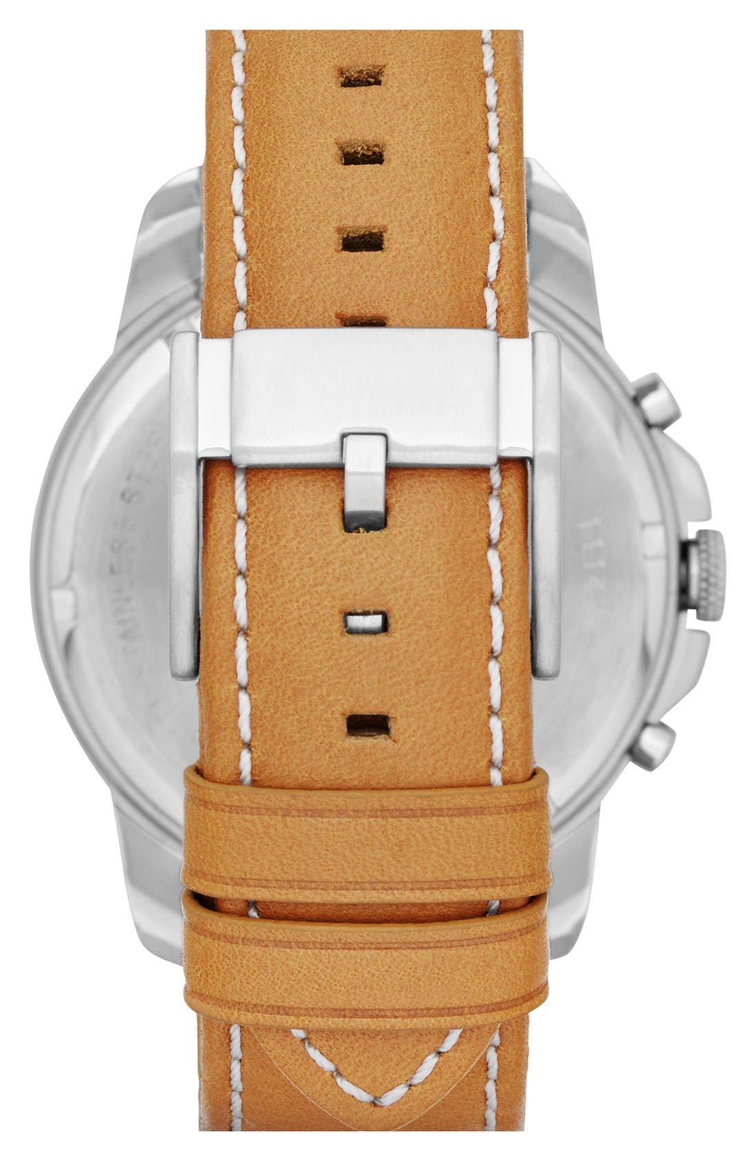 'Grant' Round Chronograph Leather Strap Watch, 44mm,                             Alternate thumbnail 71, color,