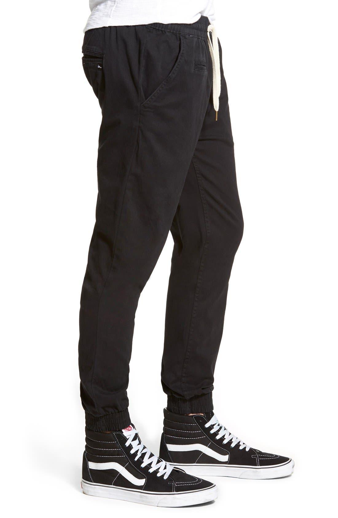 'Denny' Woven Jogger Pants,                             Alternate thumbnail 2, color,                             001