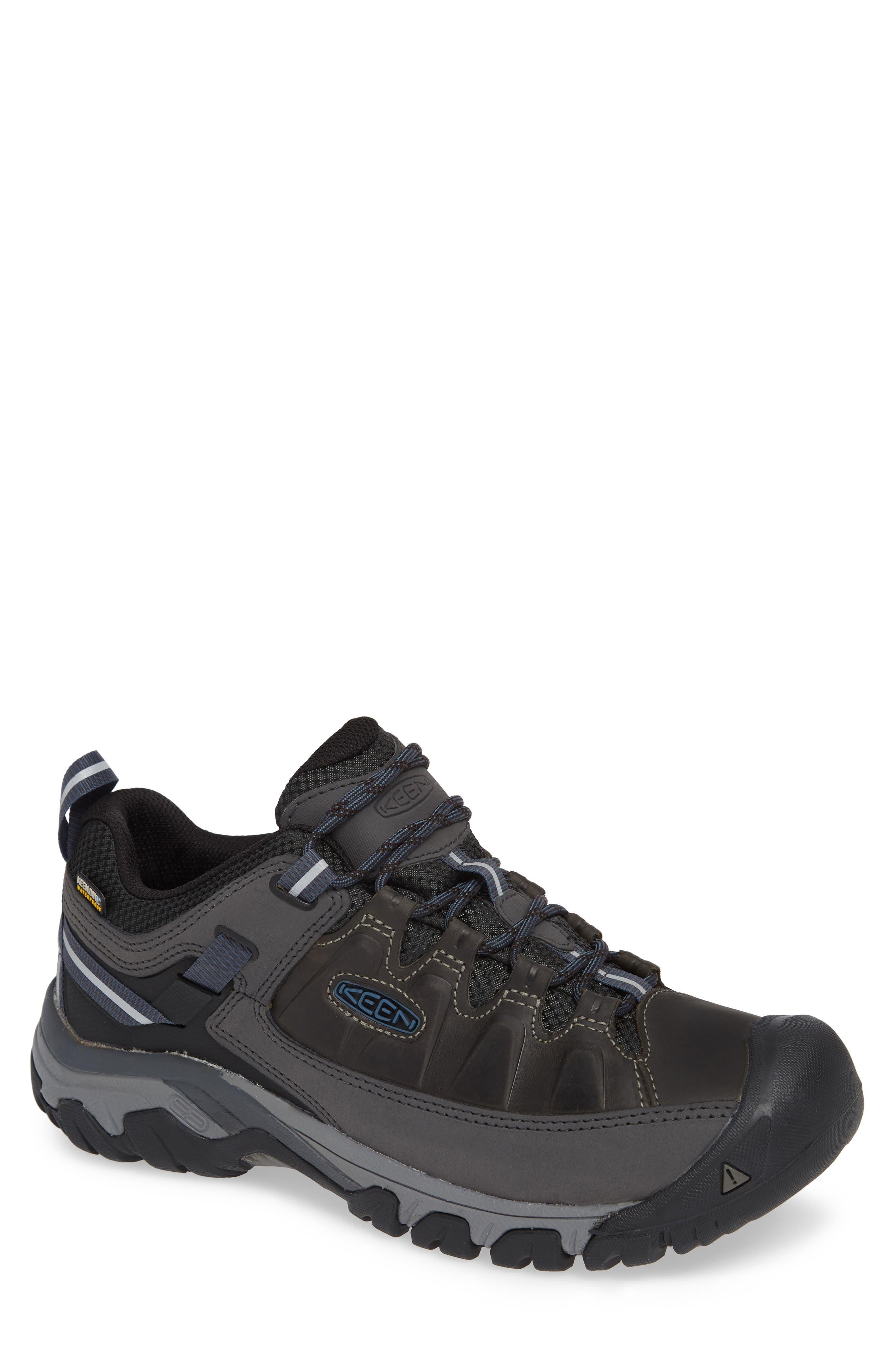 Targhee III Waterproof Hiking Shoe,                         Main,                         color, STEEL GREY/ CAPTAINS BLUE
