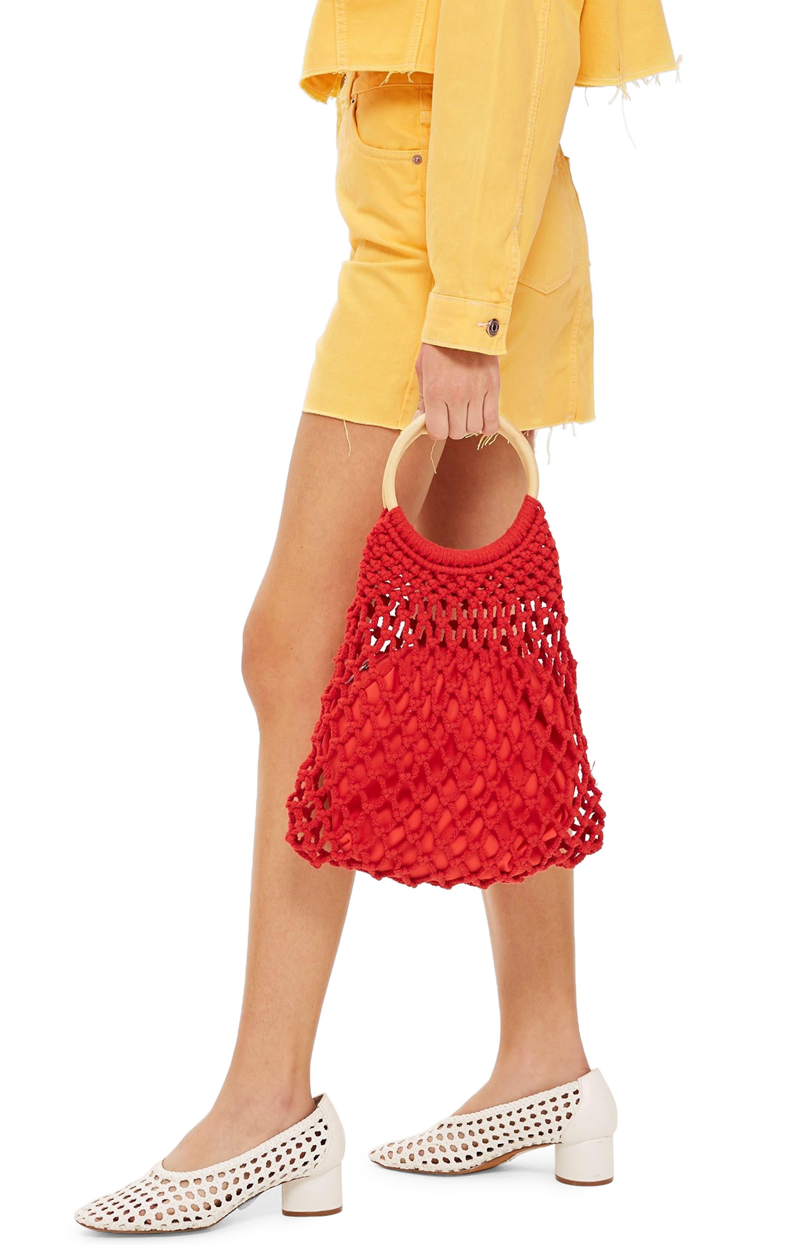 MOTO High Waist Denim Skirt,                             Alternate thumbnail 3, color,                             YELLOW