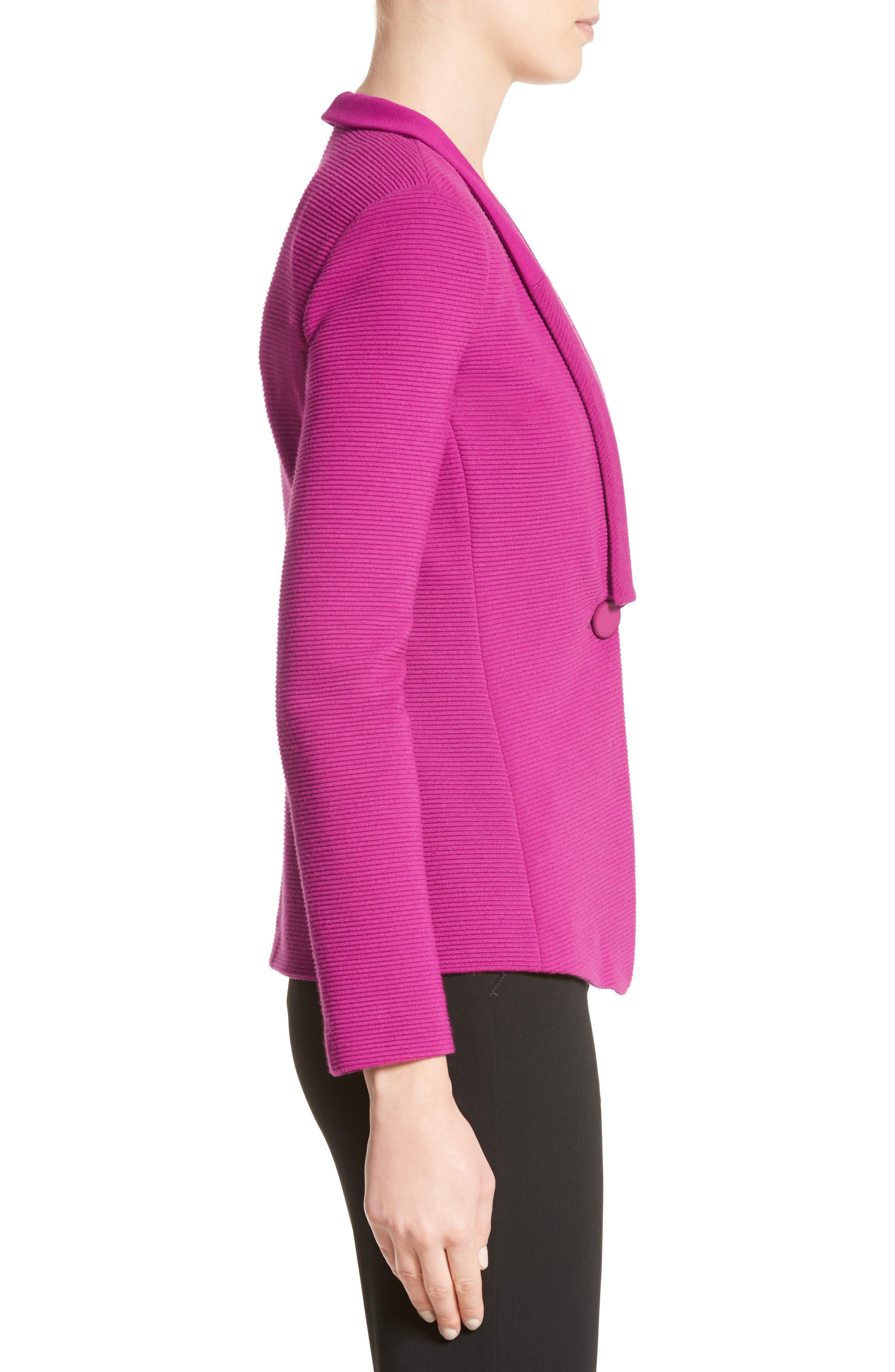 Ottoman Jersey One Button Jacket,                             Alternate thumbnail 3, color,                             696