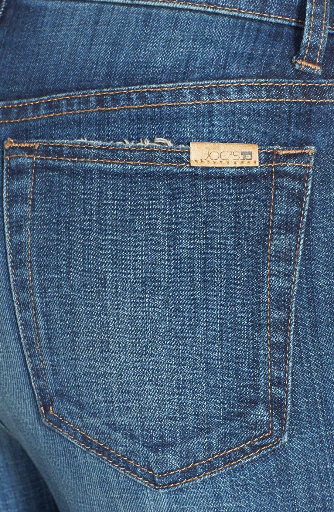 High Rise Skinny Jeans,                             Alternate thumbnail 4, color,                             400