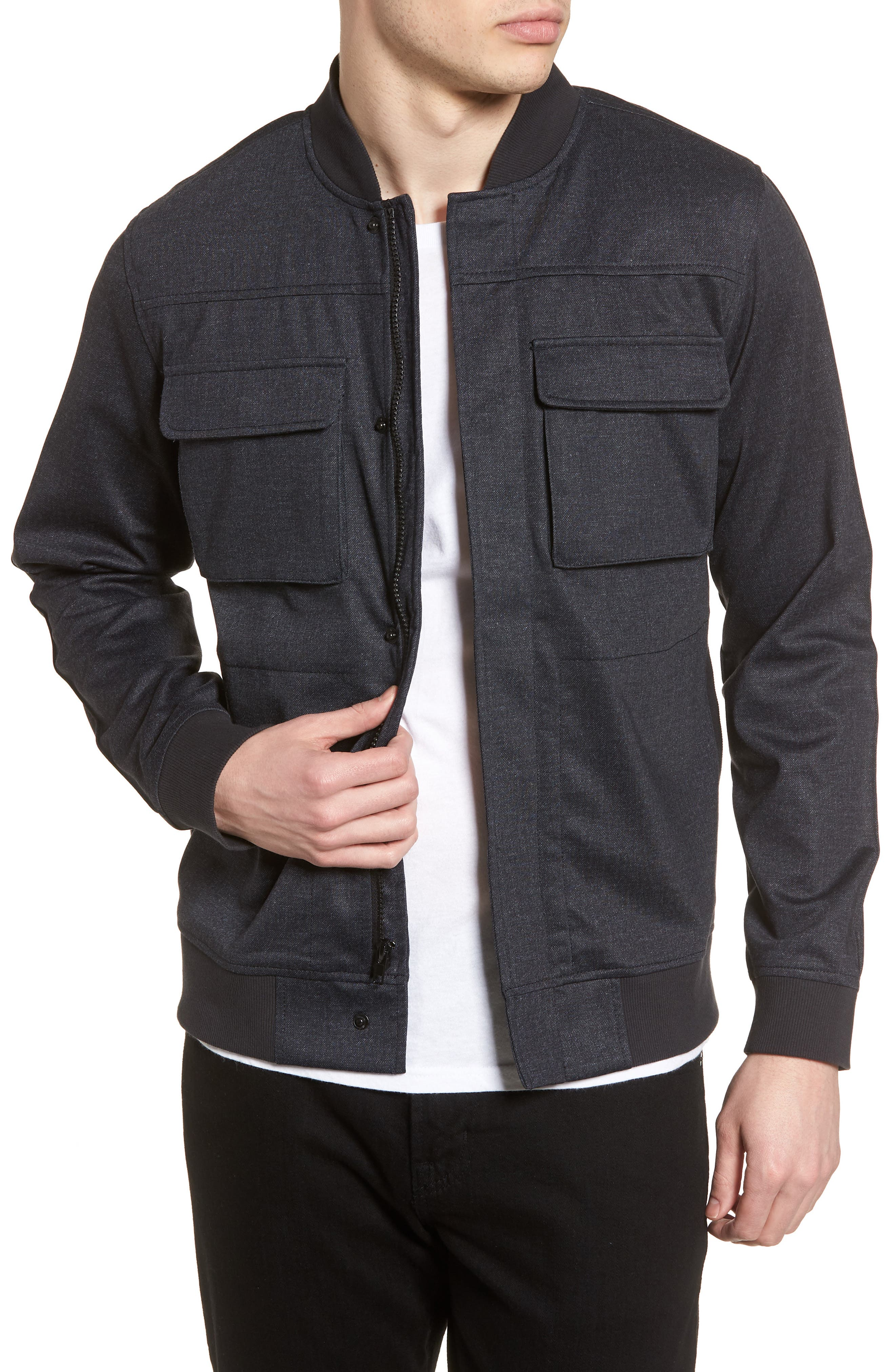 Lightweight Denim Bomber Jacket,                         Main,                         color, 410