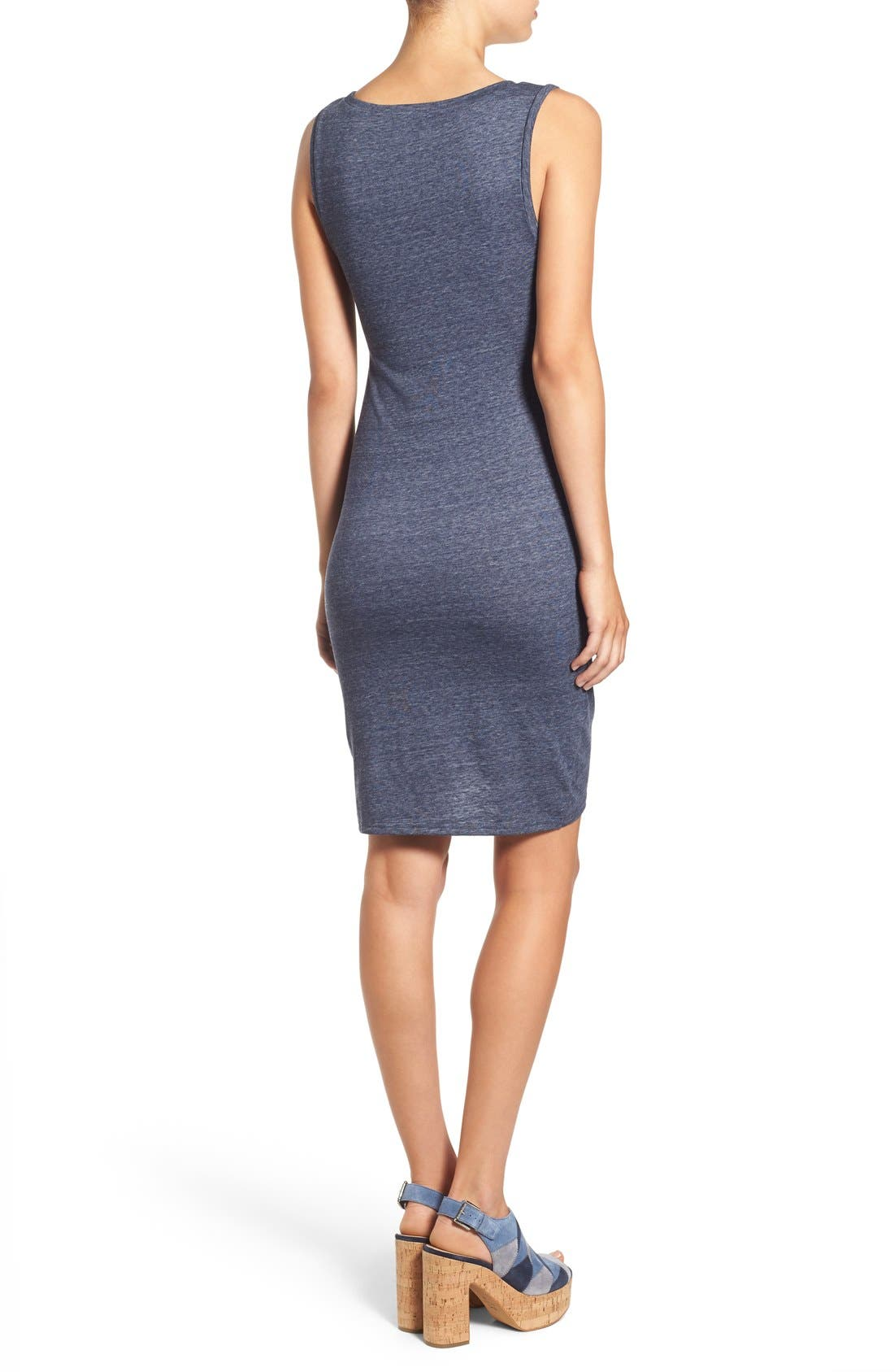 Ruched Body-Con Tank Dress,                             Alternate thumbnail 202, color,
