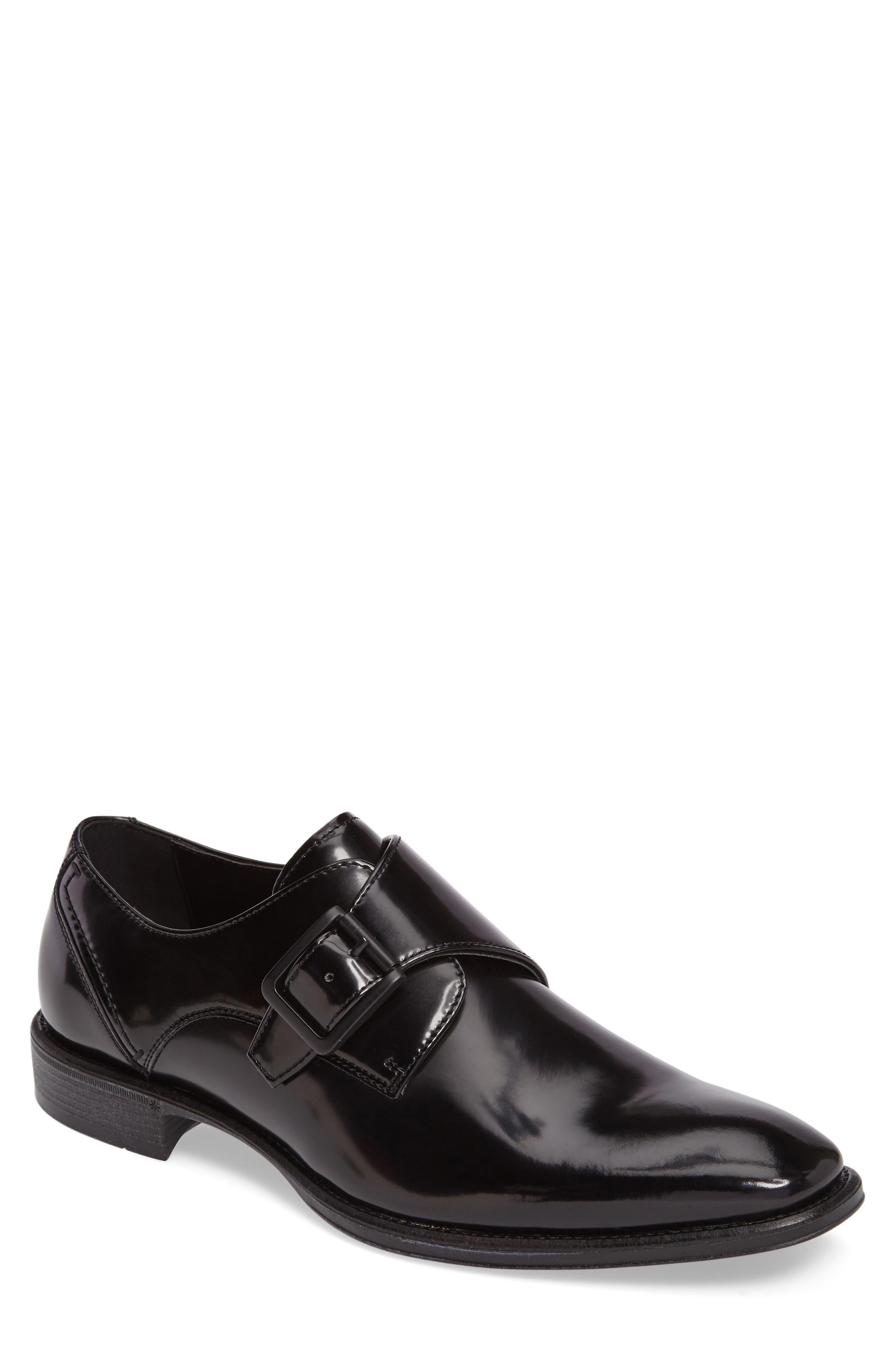 Left Side Monk Strap Shoe,                         Main,                         color, 001