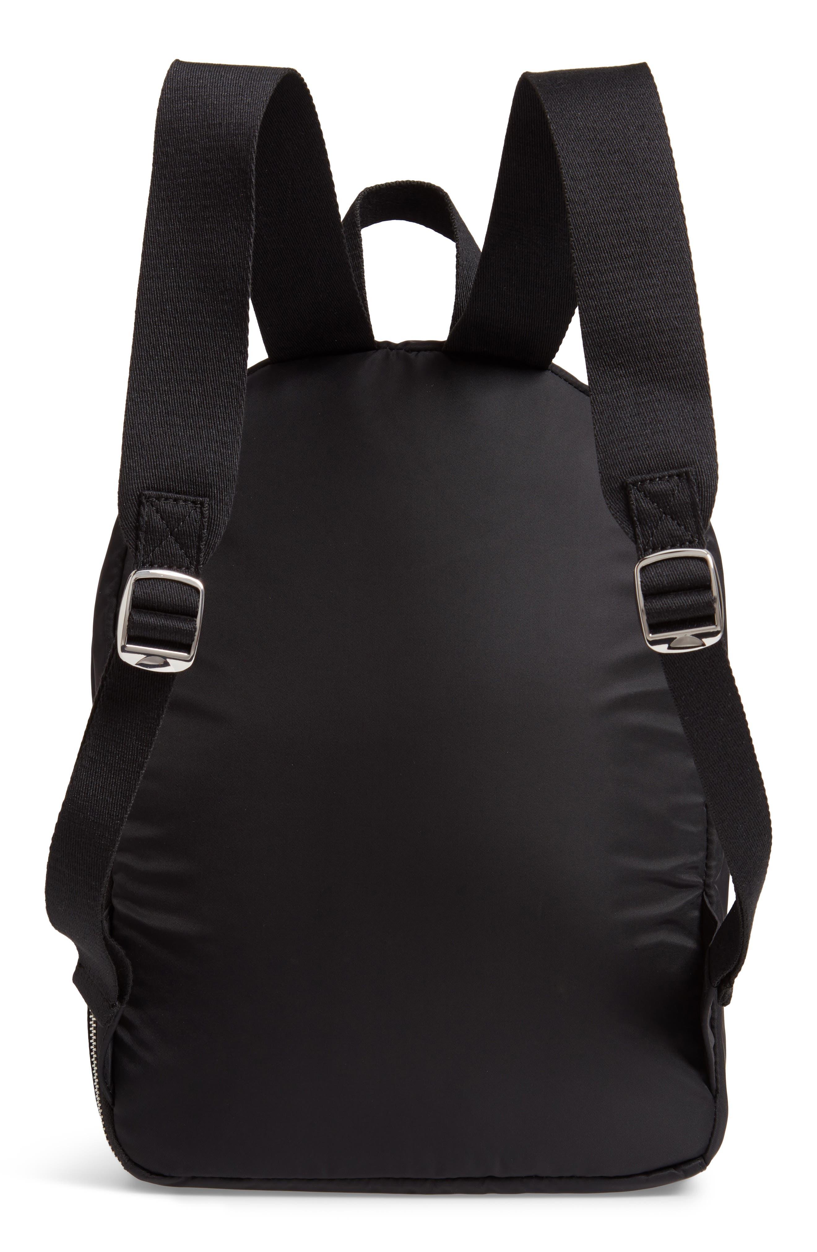 The Heights Mini Lorimer Nylon Backpack,                             Alternate thumbnail 3, color,                             BLACK