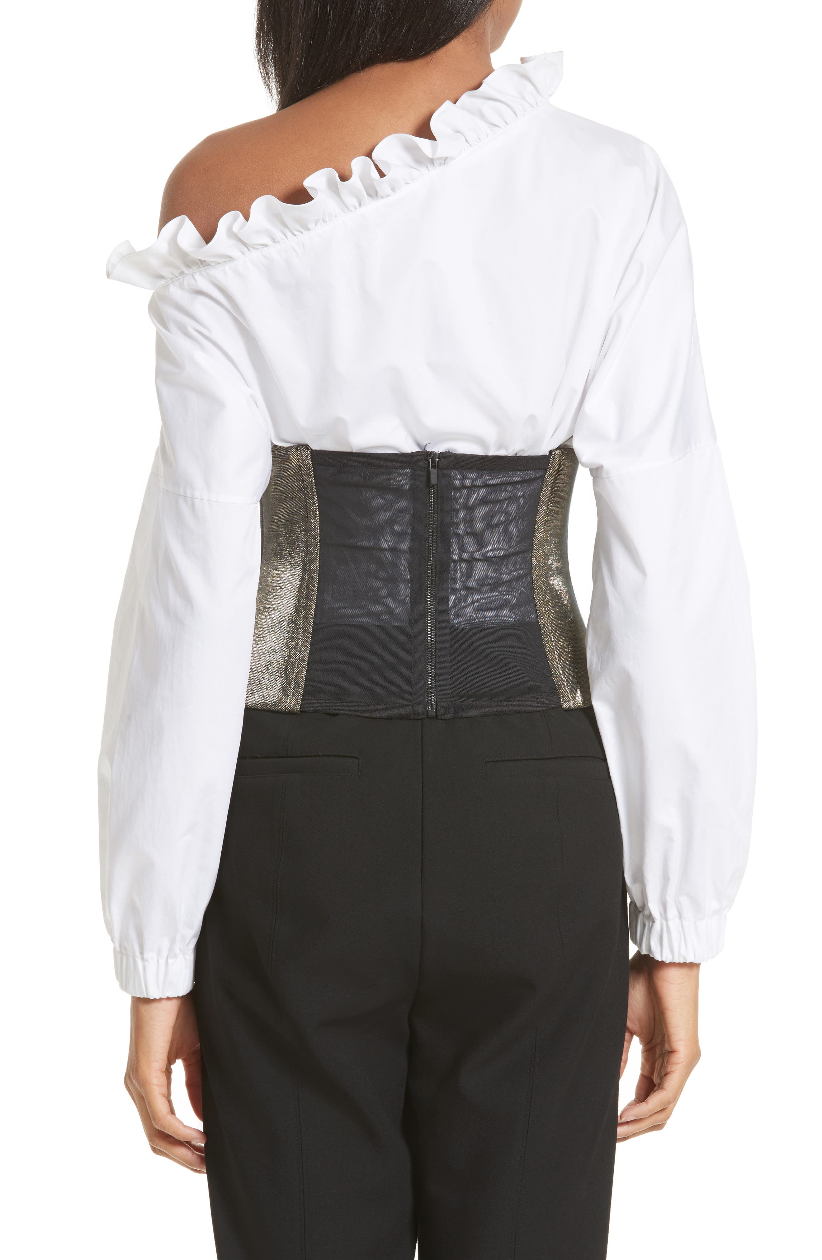 Refined Zip Corset,                             Alternate thumbnail 2, color,                             710