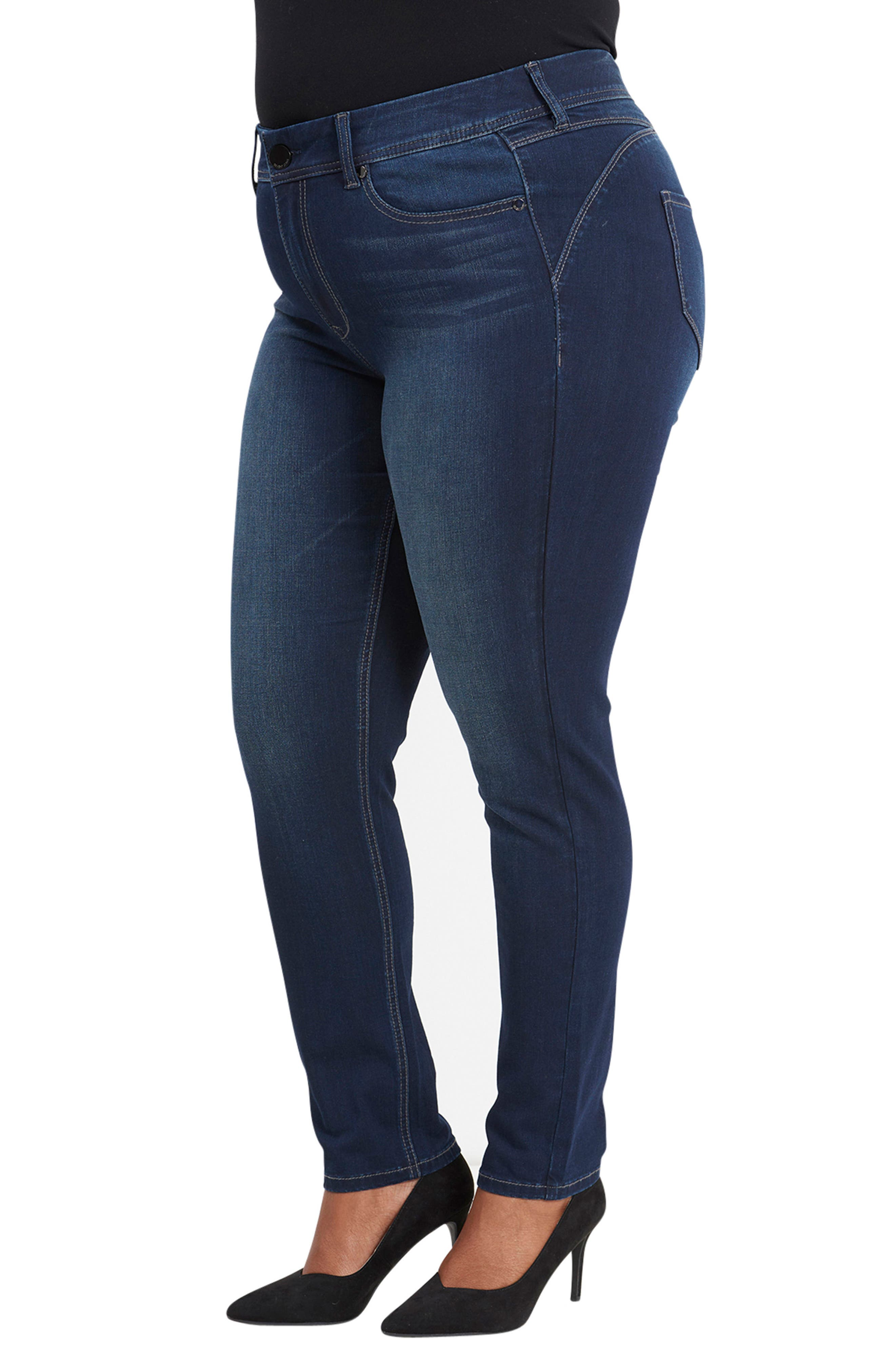 Bootyshaper Skinny Jeans,                             Alternate thumbnail 3, color,                             BLUE