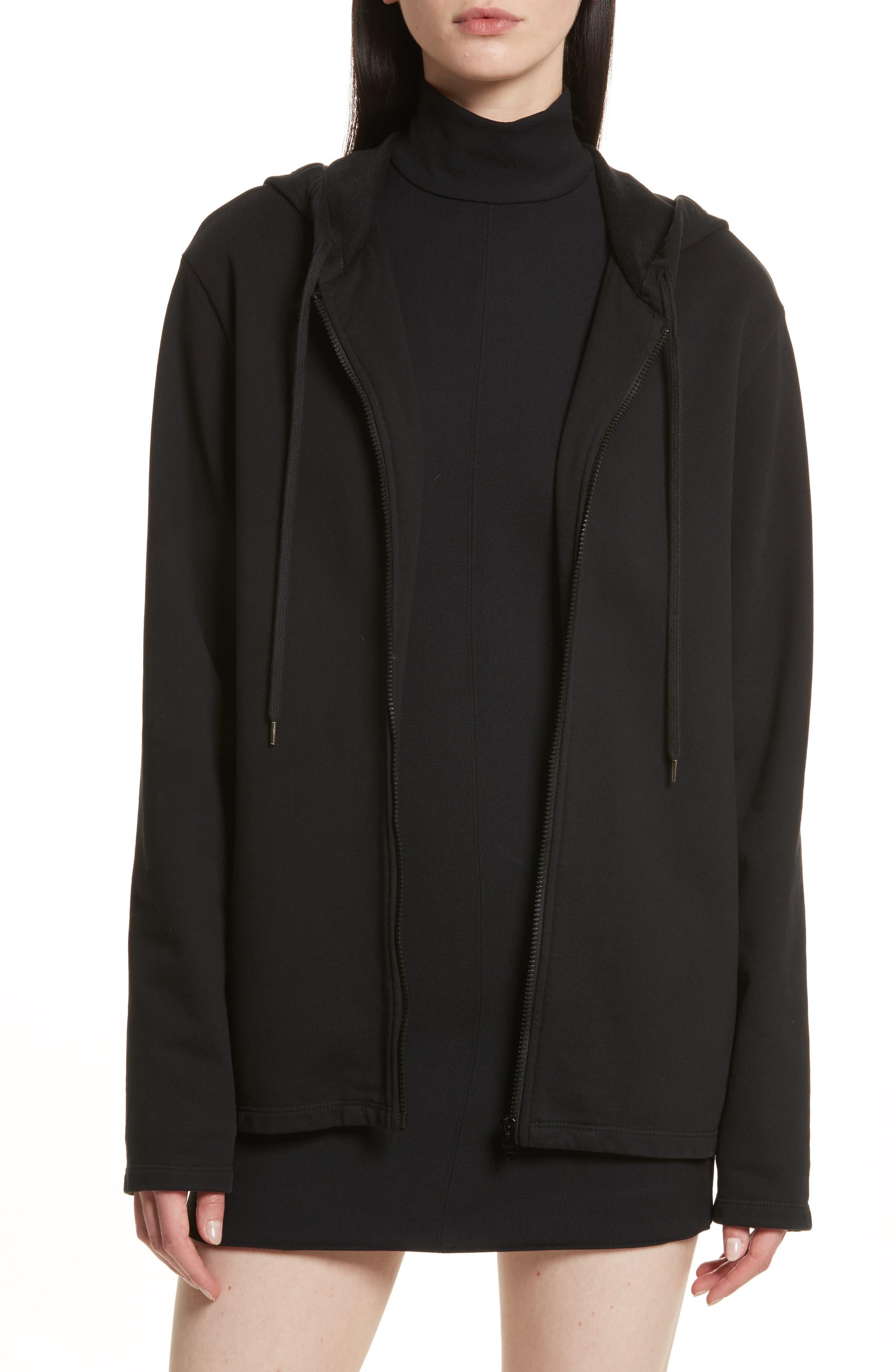 Re-Edition Stud Collar Hoodie,                         Main,                         color, 001
