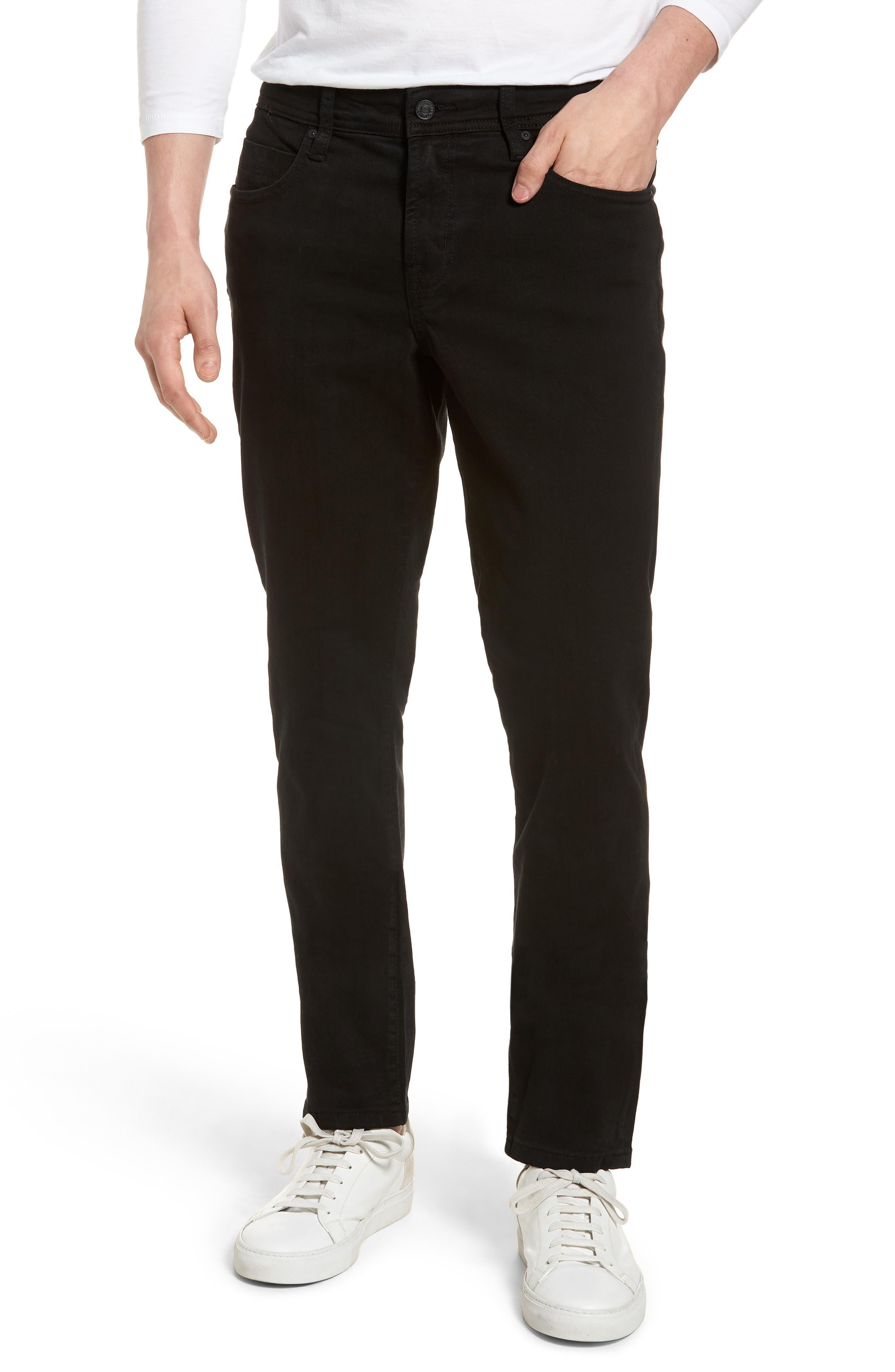 LIVERPOOL Kingston Modern Straight Leg Jeans, Main, color, 001