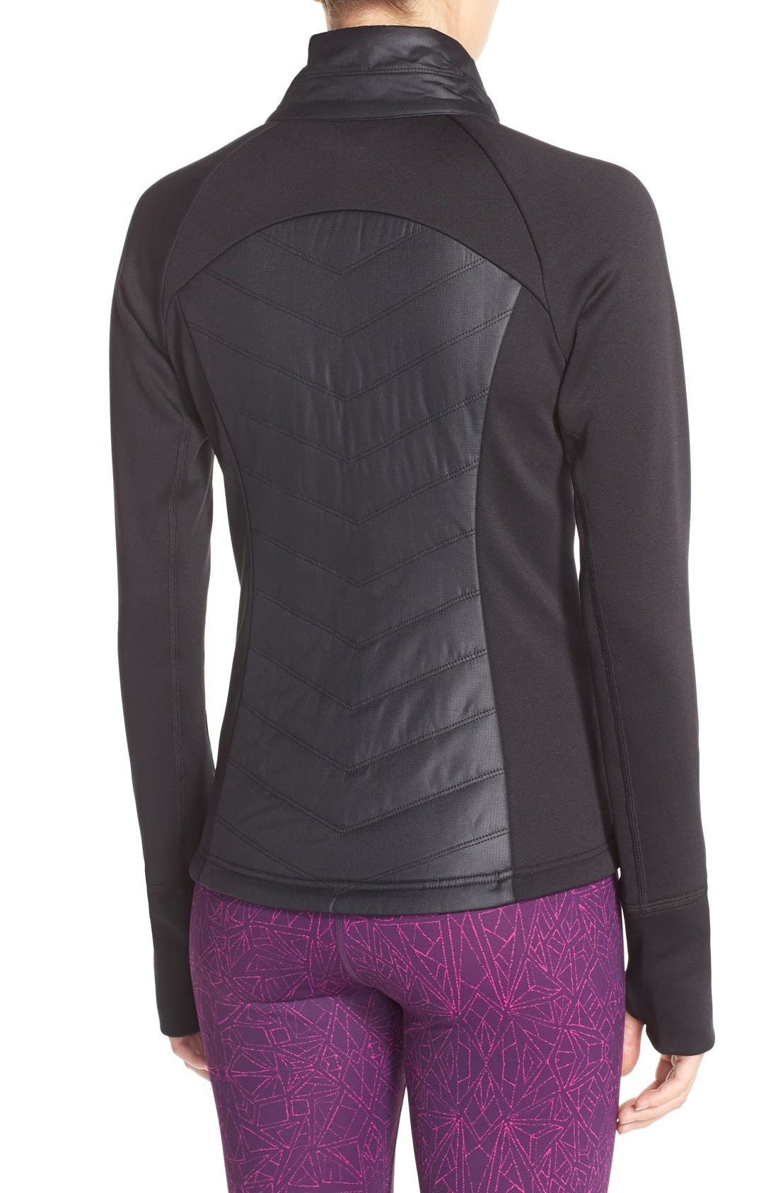 Zelfusion Reflective Quilted Jacket,                             Alternate thumbnail 8, color,                             001