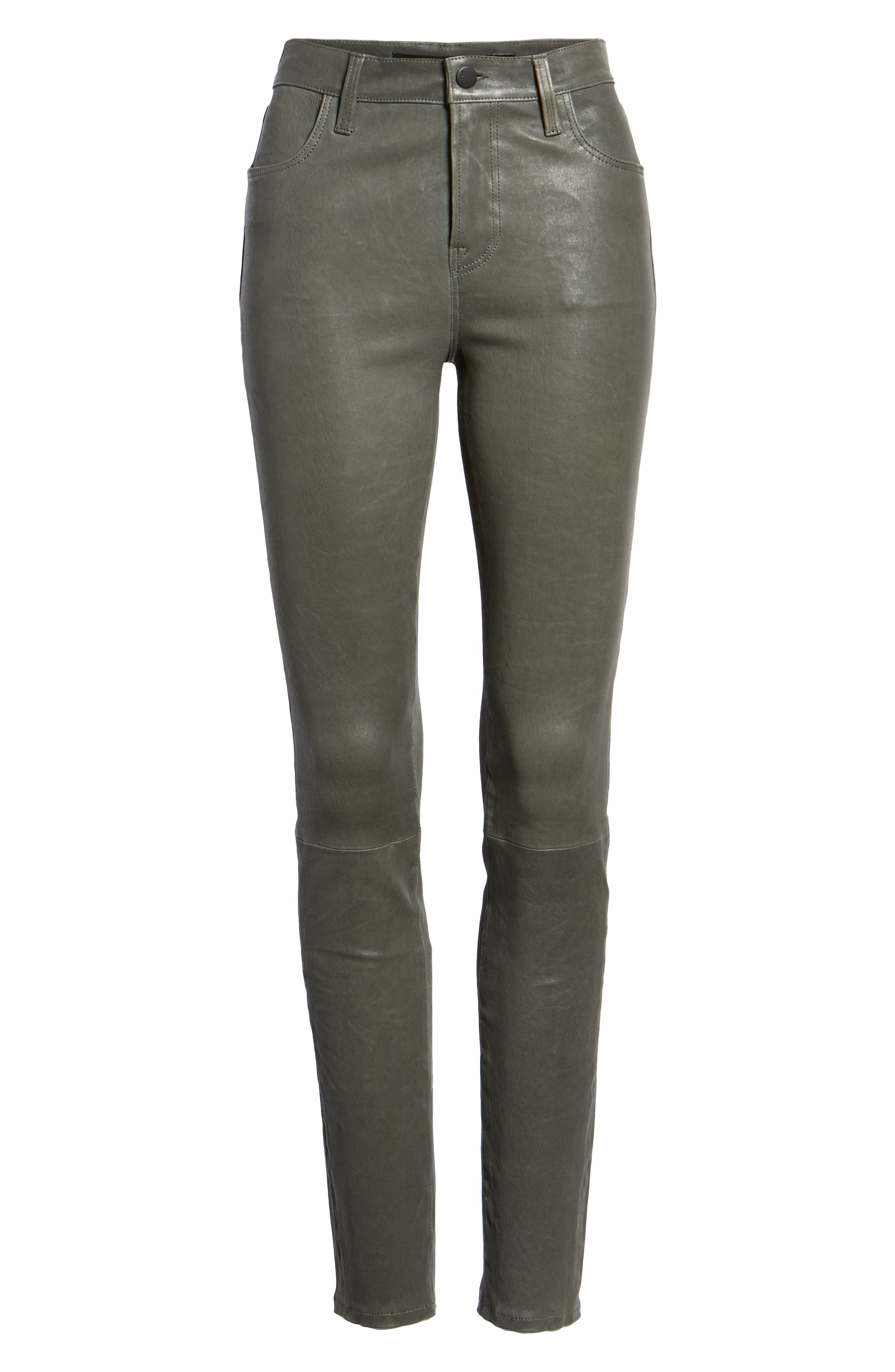 'Maria' Lambskin Leather Leggings,                             Alternate thumbnail 6, color,                             039