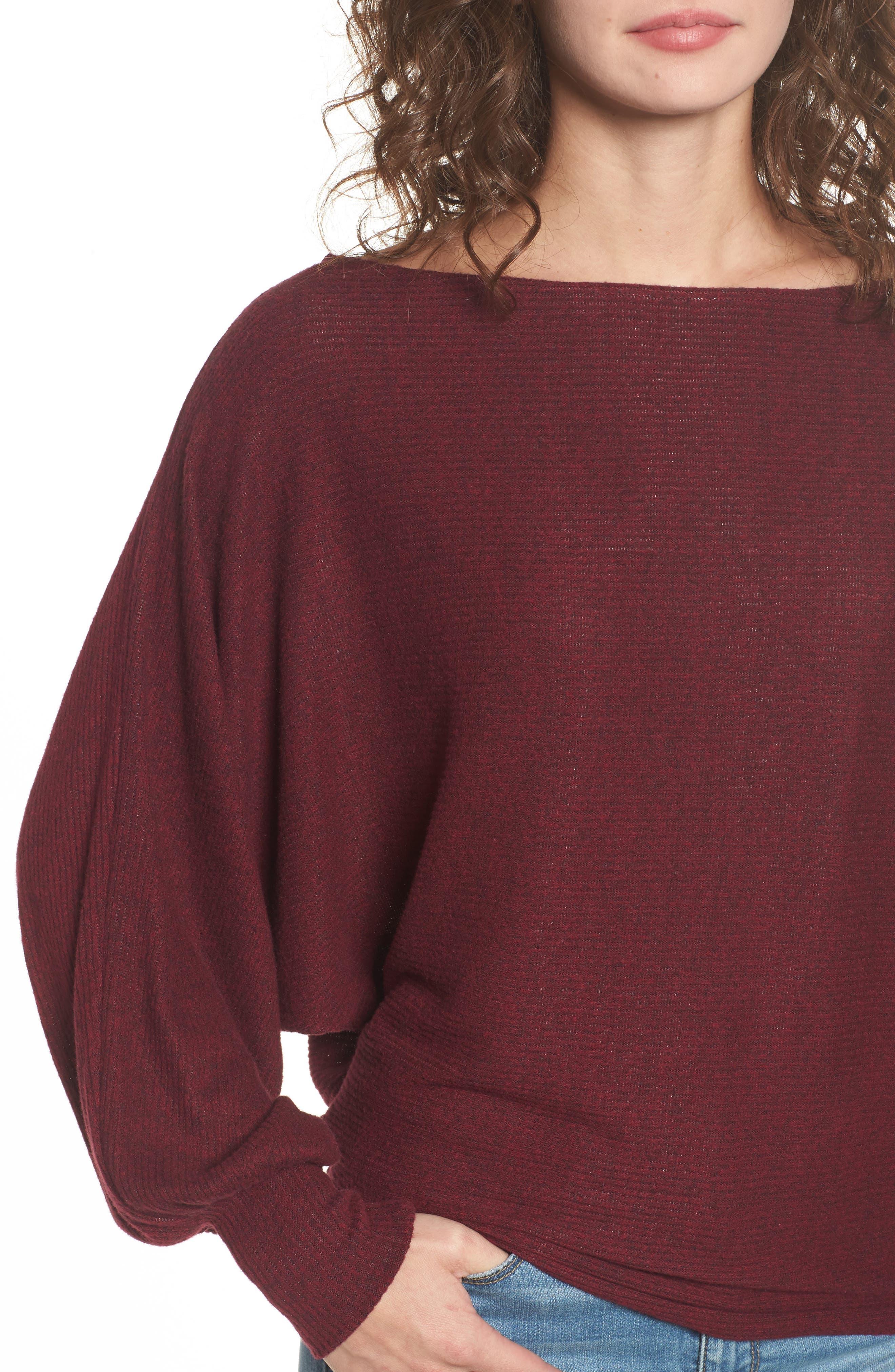 Balloon Sleeve Sweater,                             Alternate thumbnail 4, color,                             930