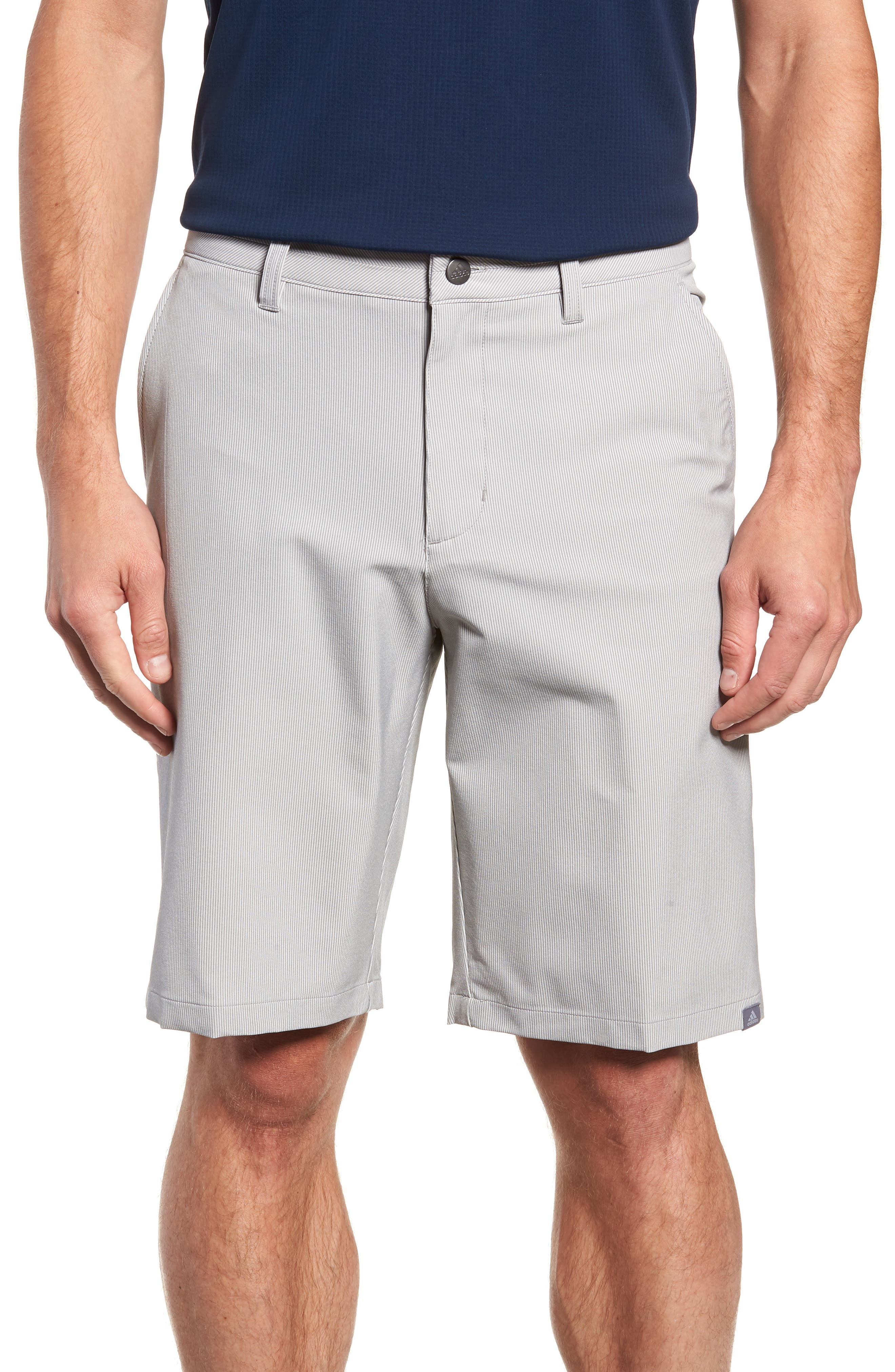 adidas Ultimate Pinstripe Golf Shorts,                         Main,                         color, 033