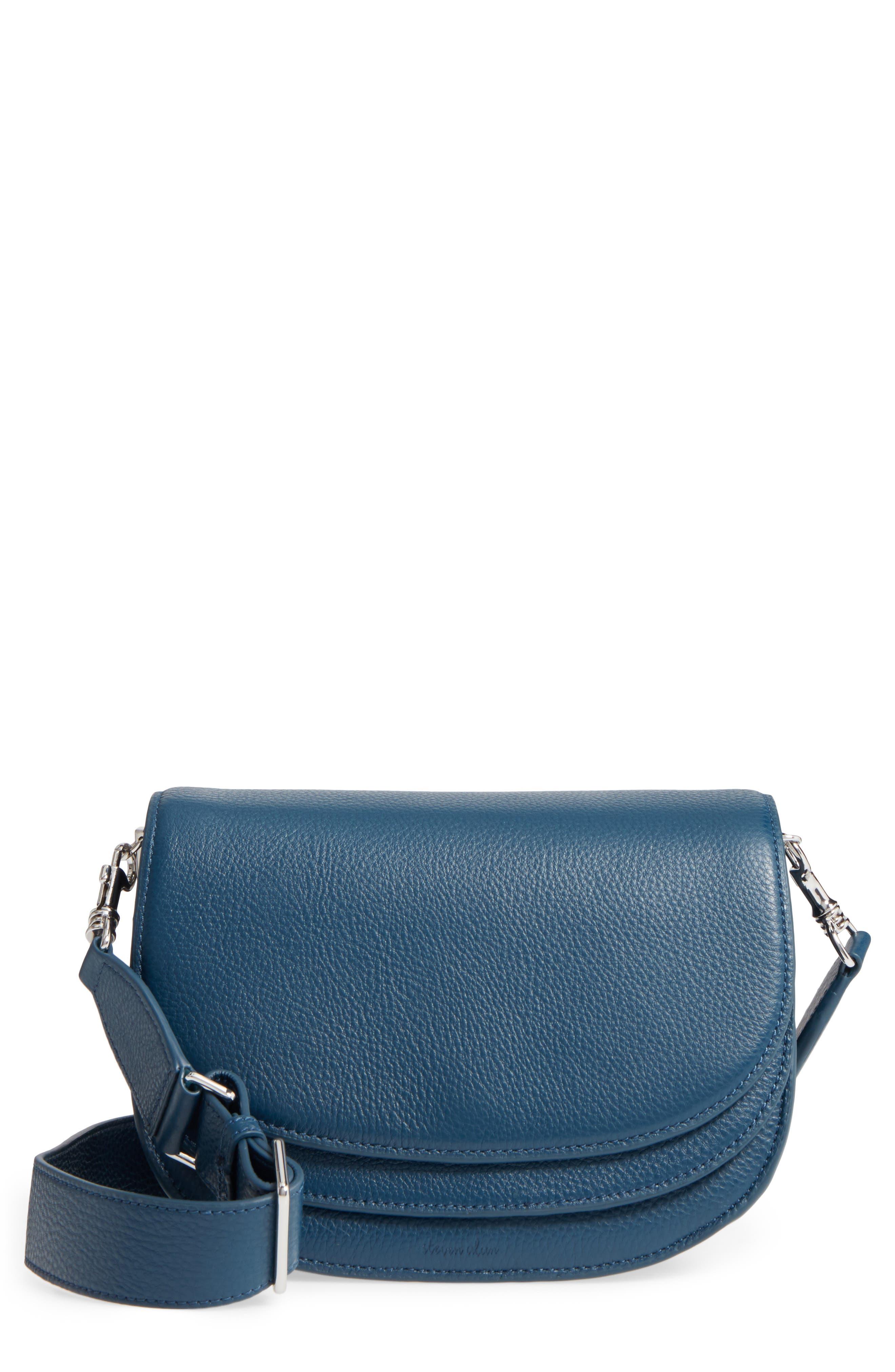 Landon Leather Crossbody Saddle Bag,                             Main thumbnail 2, color,