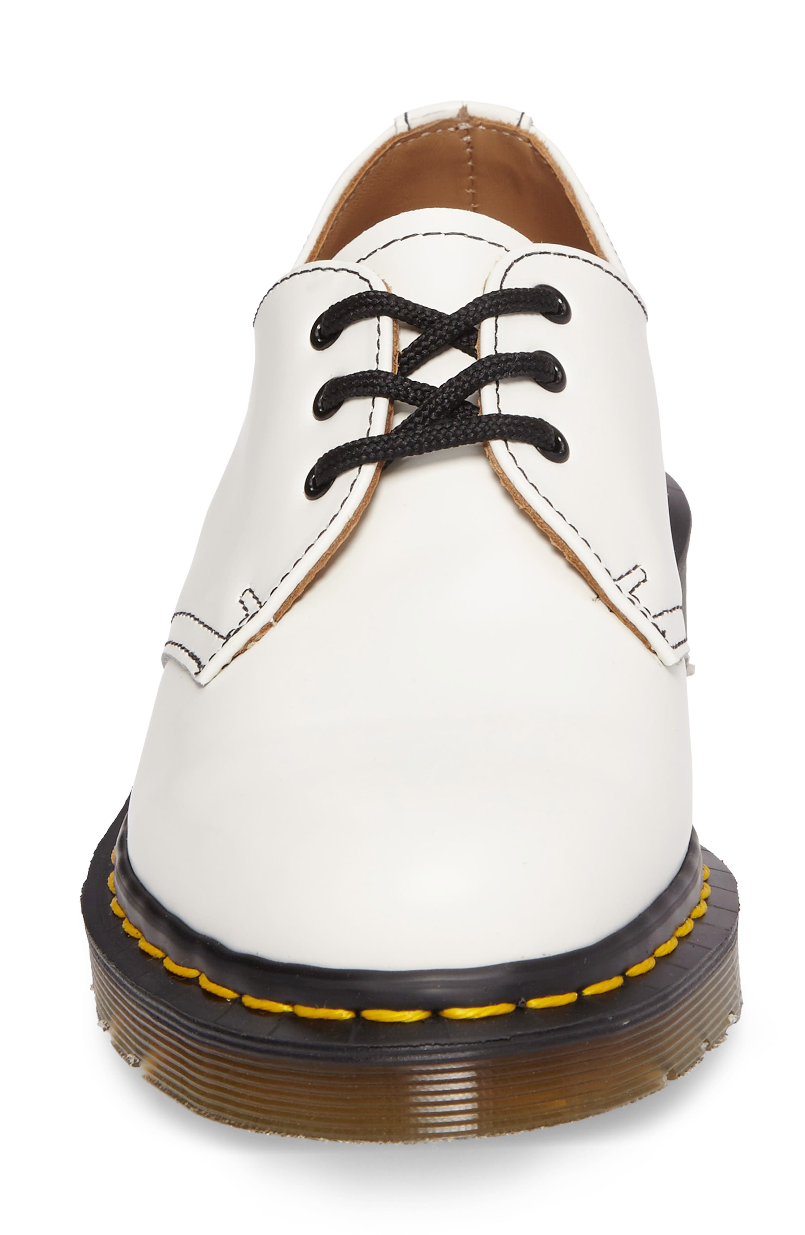 x Dr. Martens Pointy Toe Oxford,                             Alternate thumbnail 4, color,                             WHITE