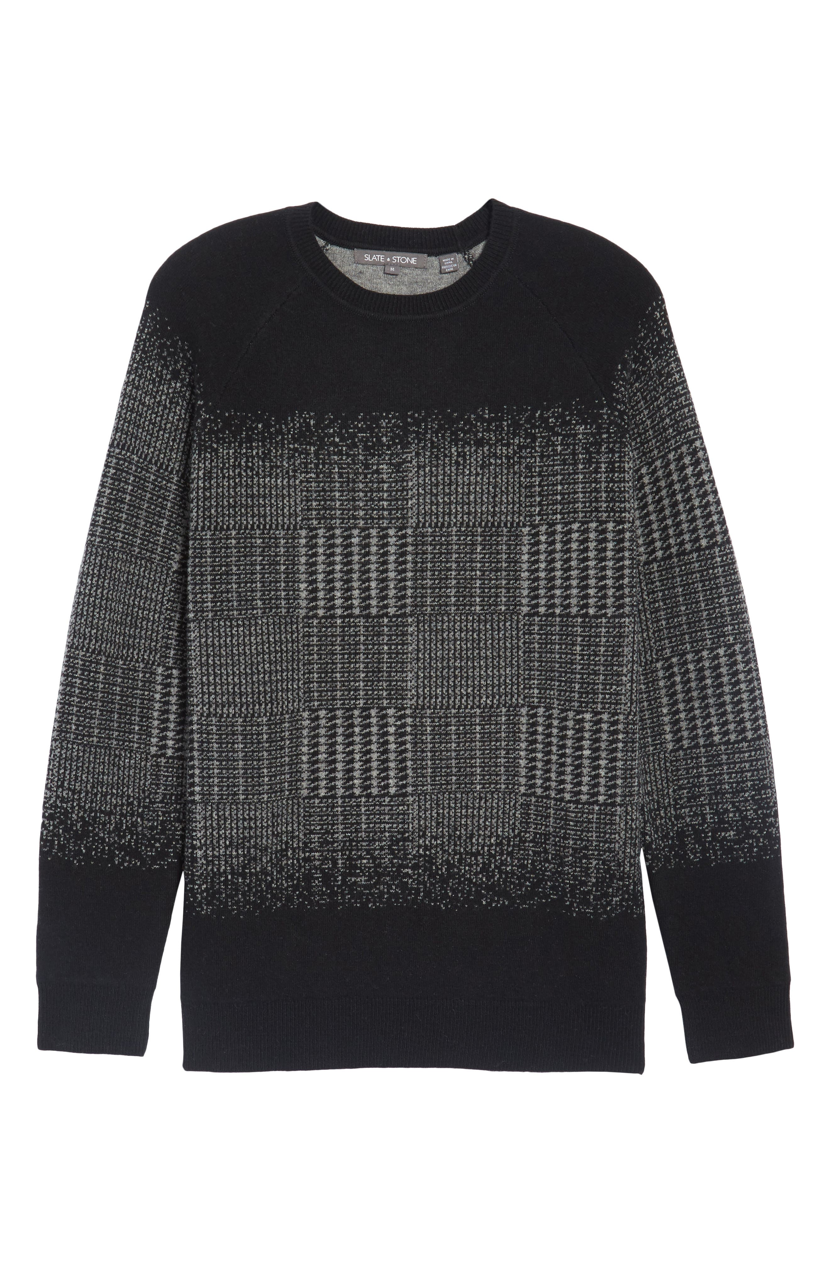 Block Pattern Wool Sweater,                             Alternate thumbnail 6, color,                             016