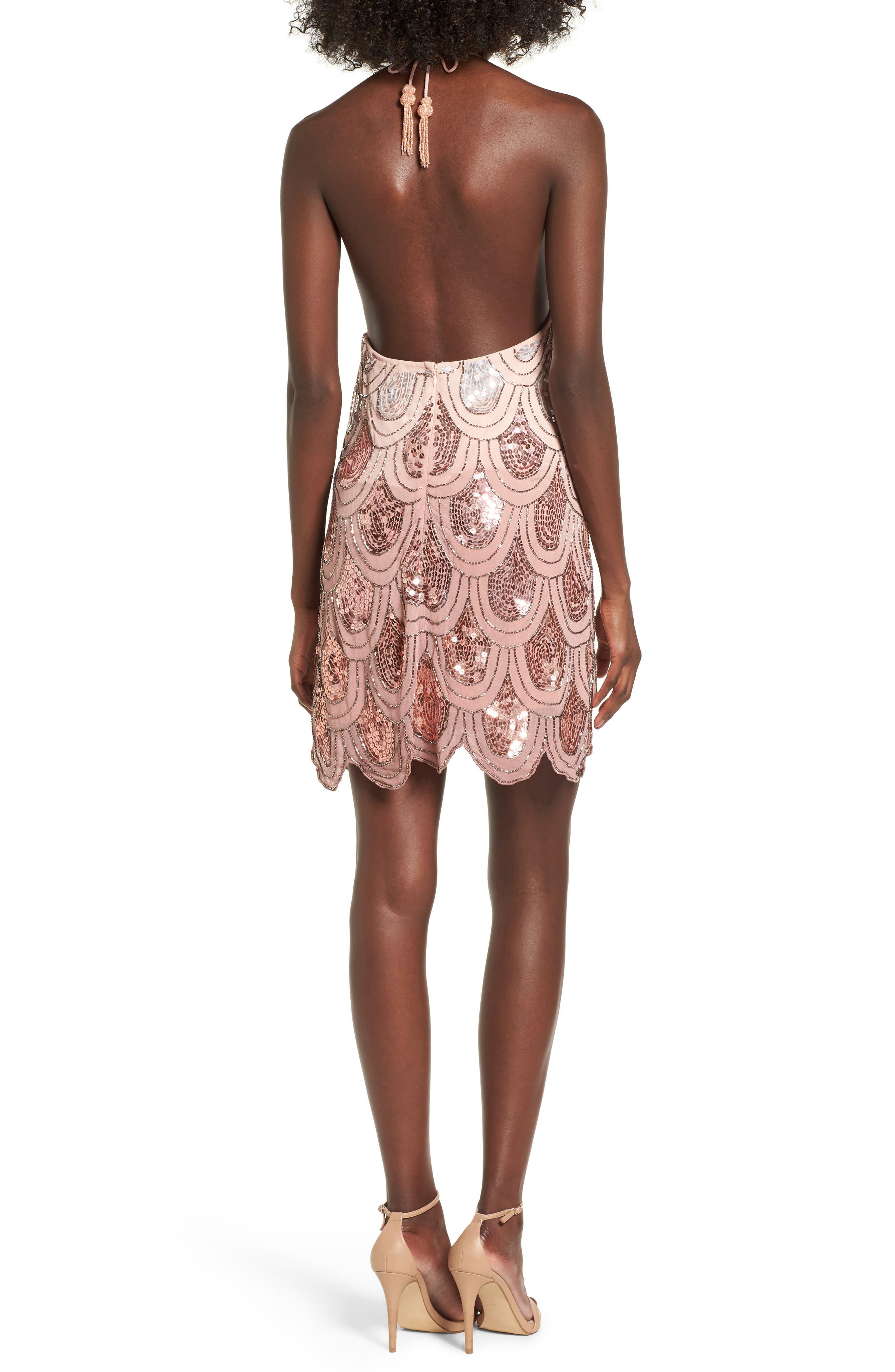 Dame Sequin Minidress,                             Alternate thumbnail 4, color,