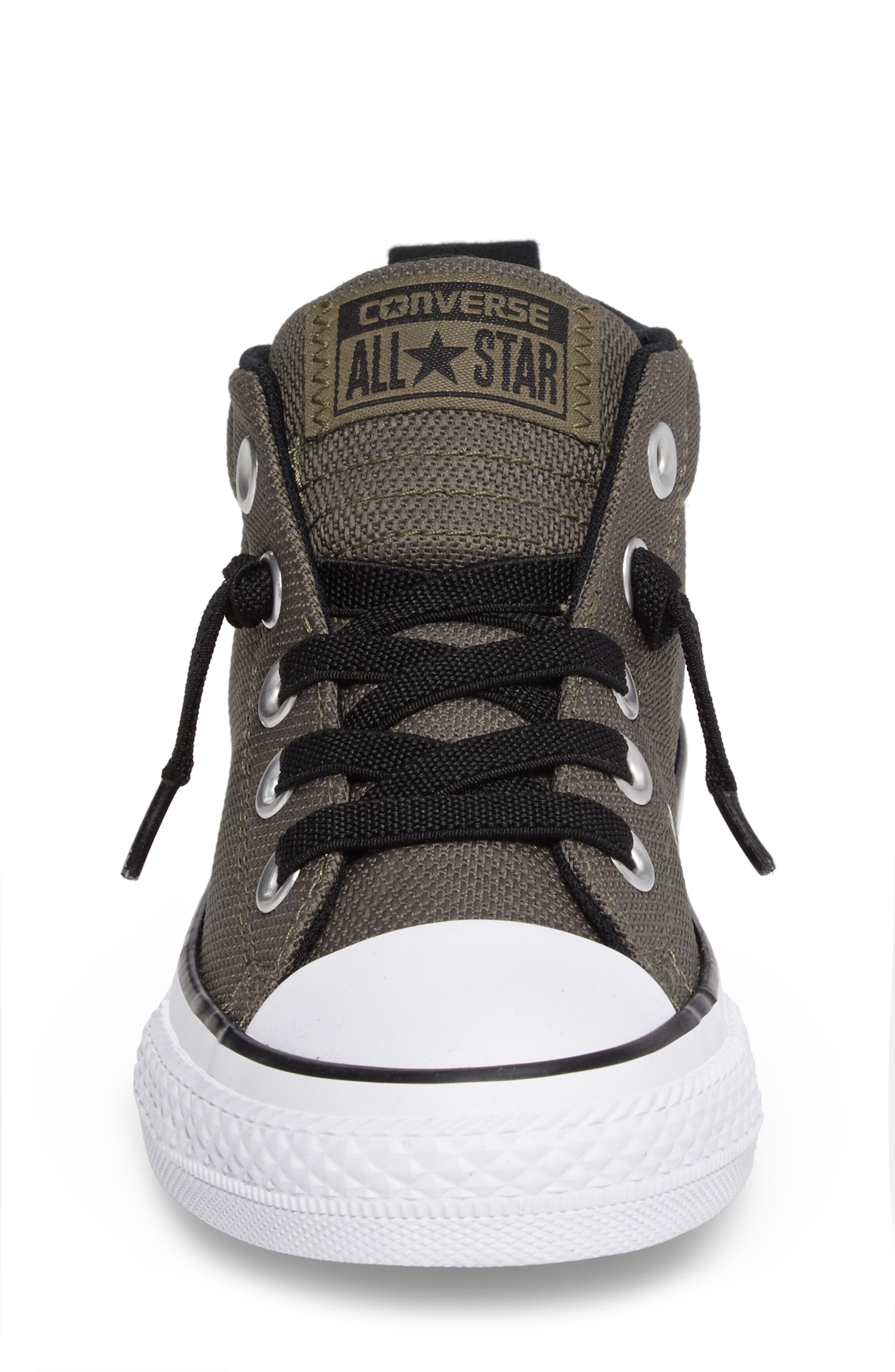 Chuck Taylor<sup>®</sup> All Star<sup>®</sup> Basket Weave Street Mid Sneaker,                             Alternate thumbnail 4, color,                             342