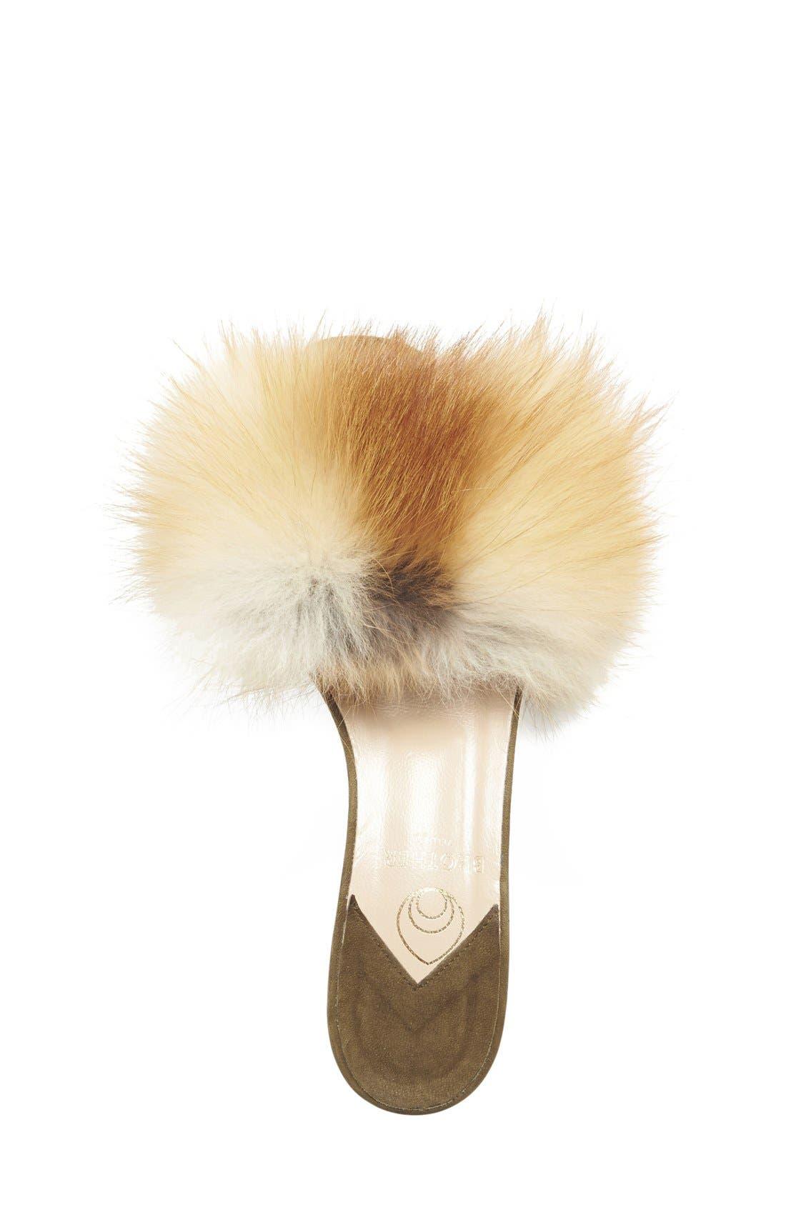 BROTHER VELLIES,                             'Tufted' Genuine Fox Fur Slide Sandal,                             Alternate thumbnail 4, color,                             230