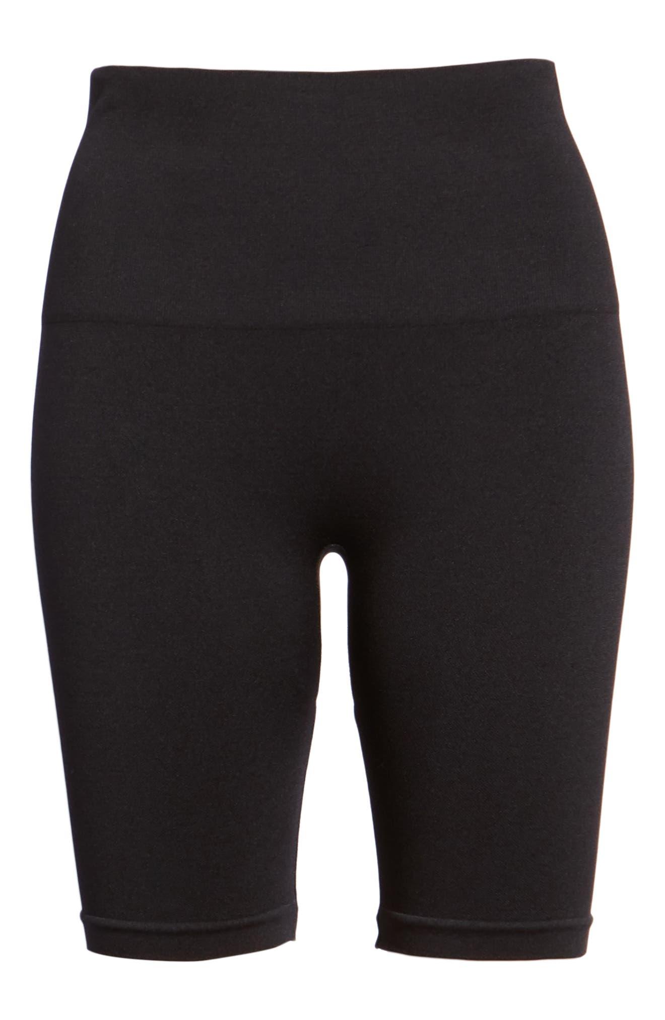 Seamless Bike Shorts,                             Alternate thumbnail 7, color,                             BLACK