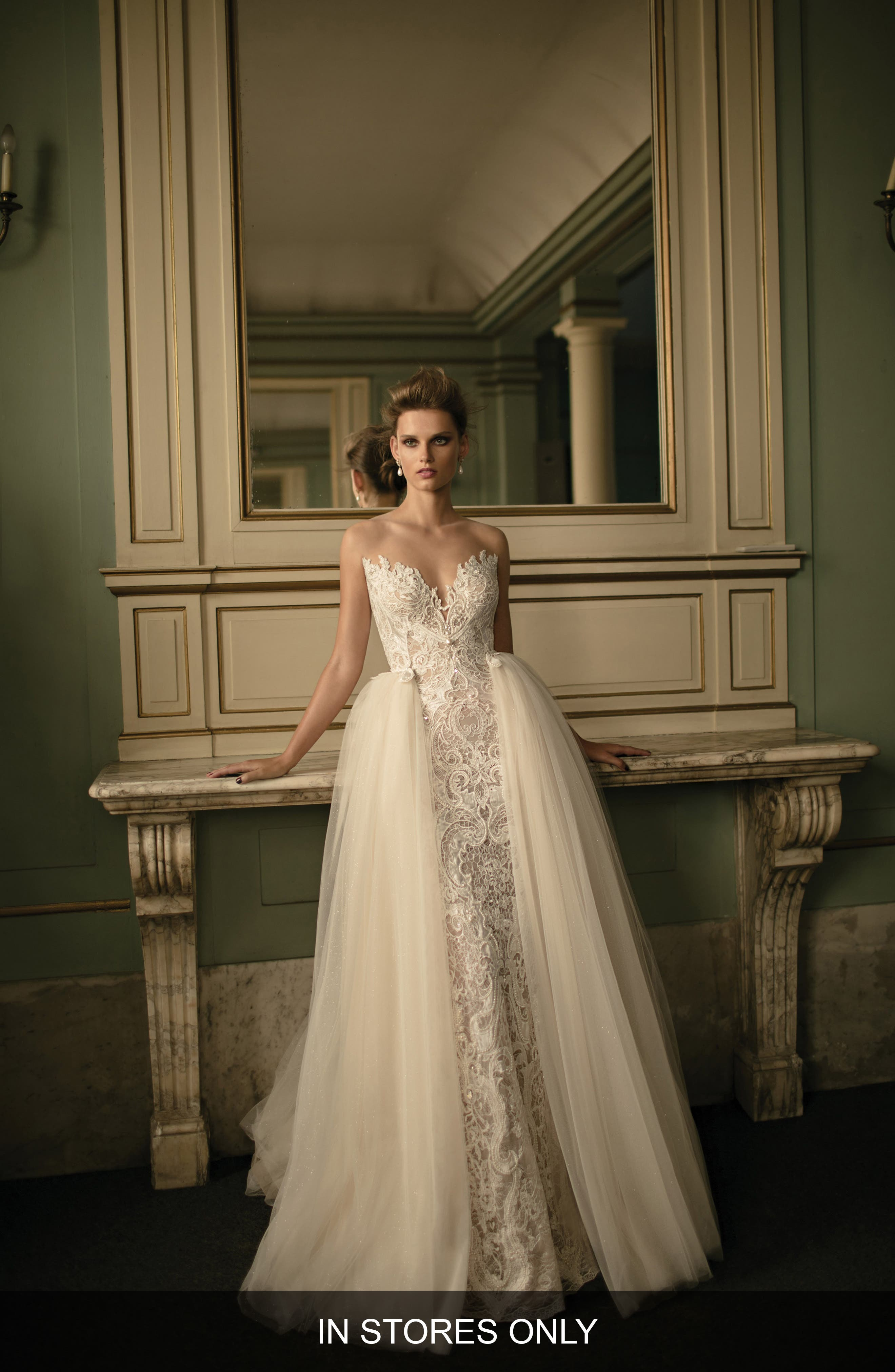 Beaded Lace & Tulle Ballgown,                             Alternate thumbnail 2, color,                             900