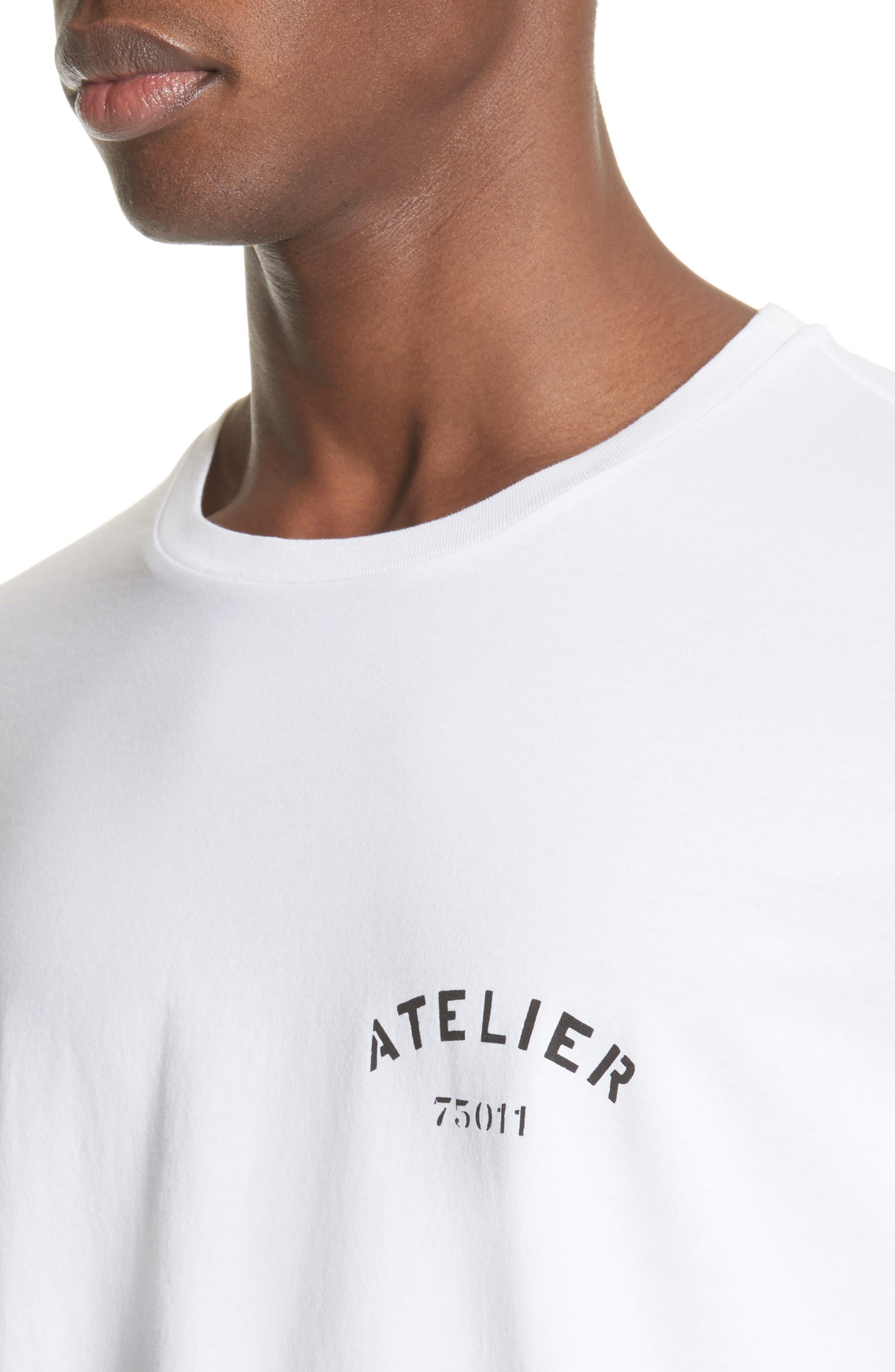 Atelier Graphic T-Shirt,                             Alternate thumbnail 4, color,                             100