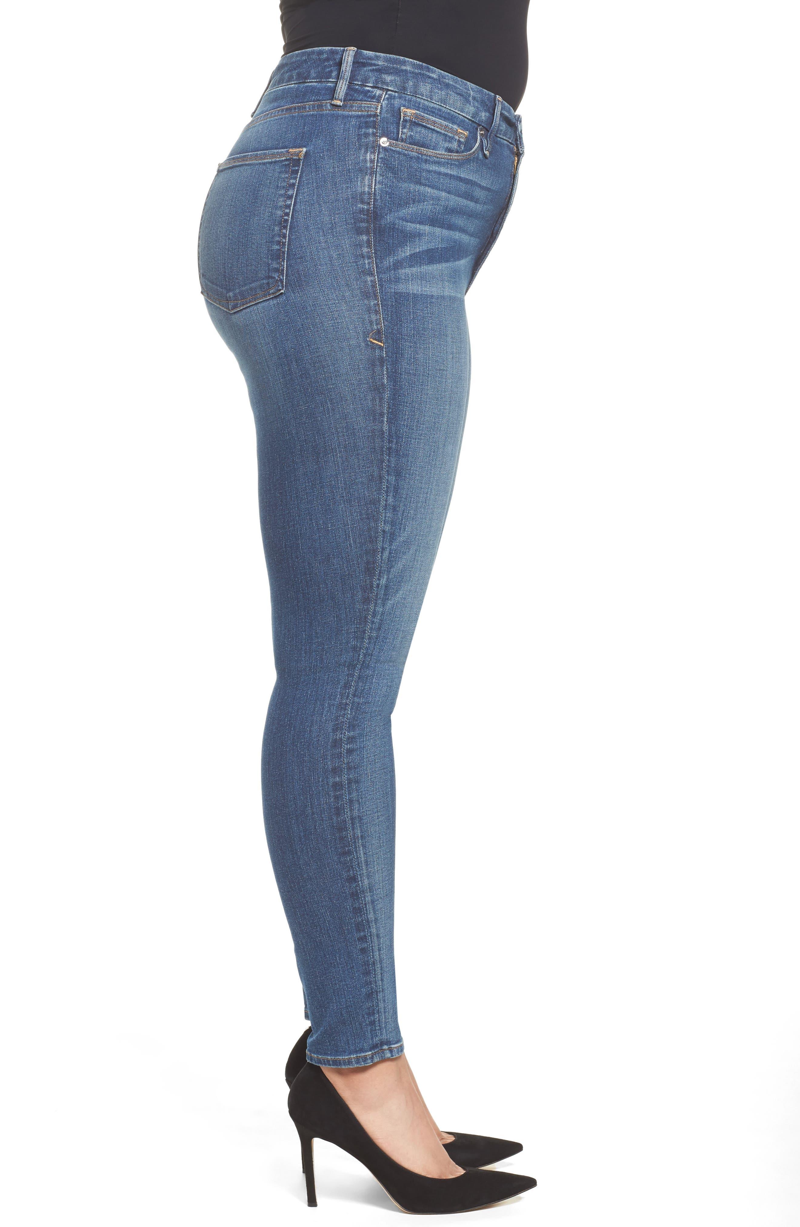 Good Waist High Waist Skinny Jeans,                             Alternate thumbnail 7, color,