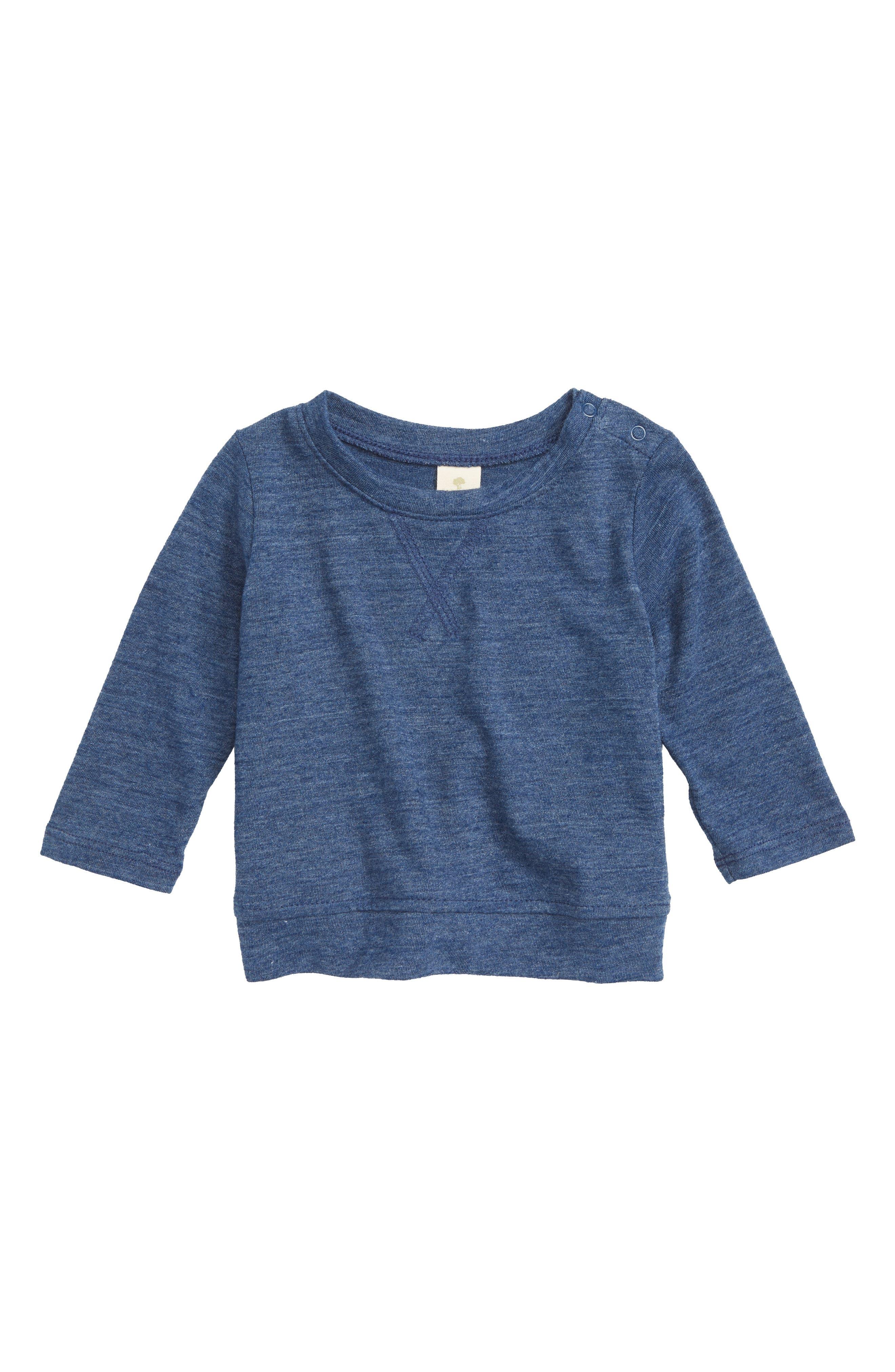 Basic T-Shirt,                         Main,                         color, BLUE ESTATE