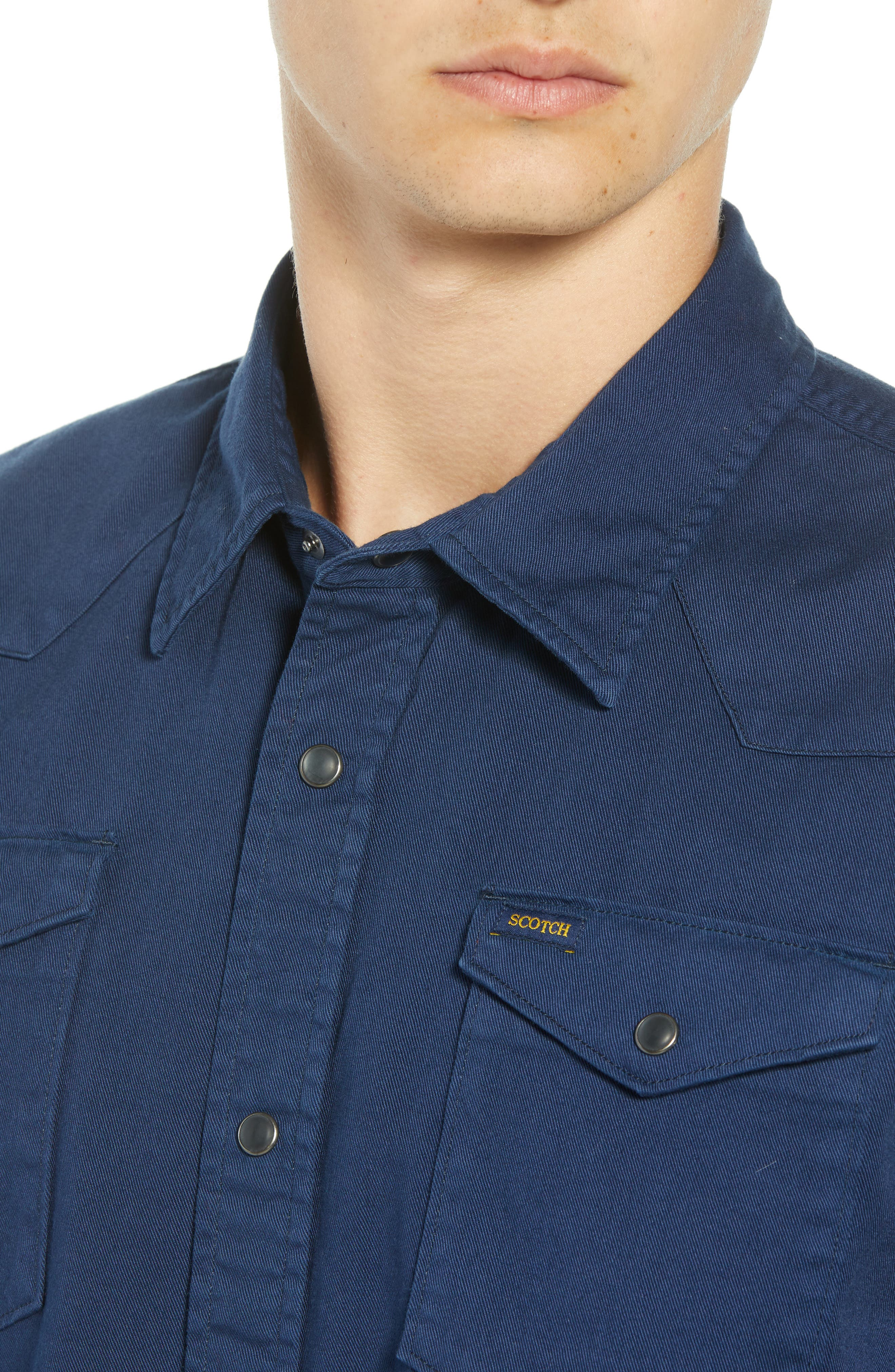 Regular Fit Garment Dyed Shirt,                             Alternate thumbnail 2, color,                             DENIM BLUE