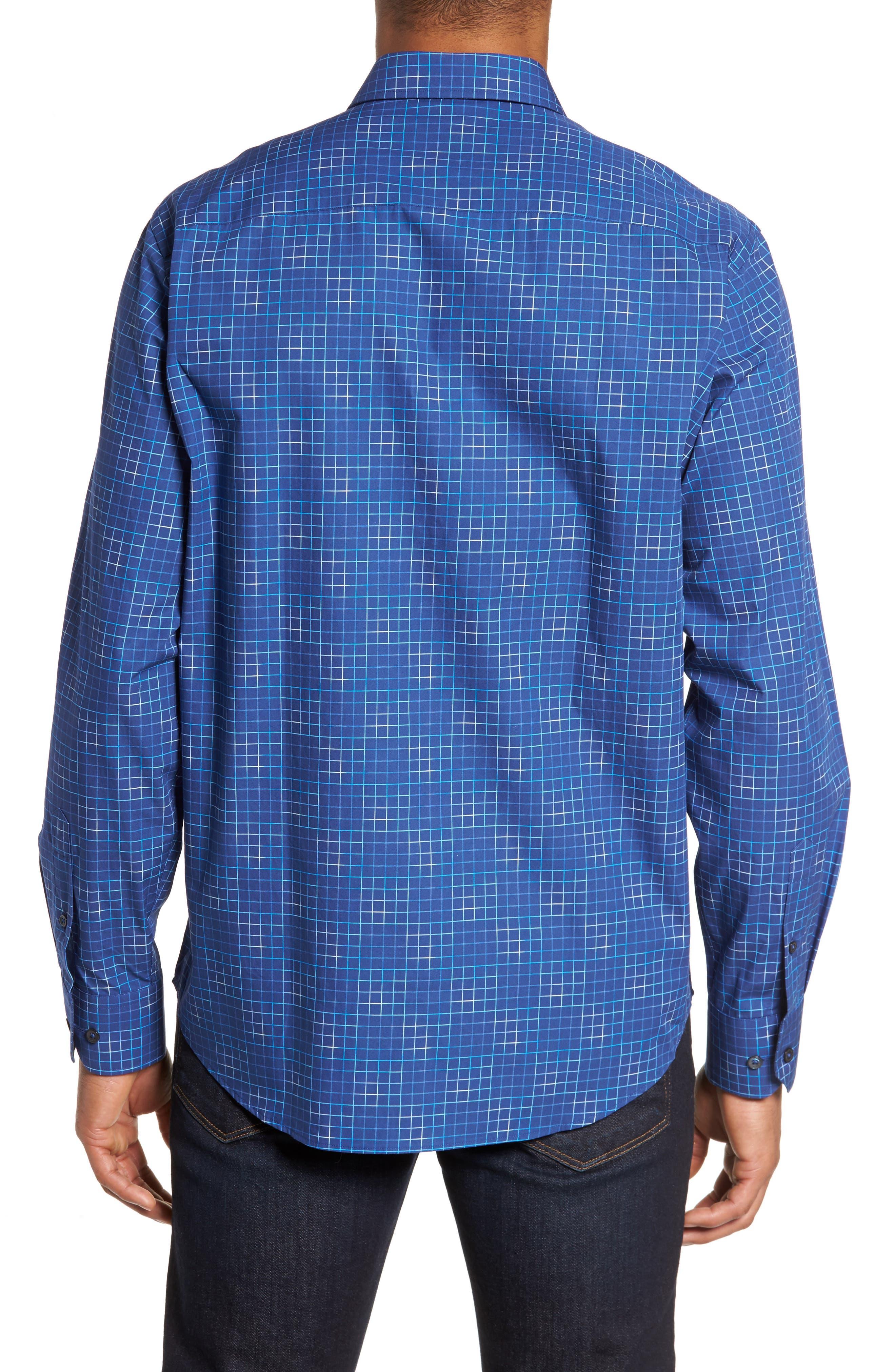 Classic Fit Check Sport Shirt,                             Alternate thumbnail 2, color,                             419