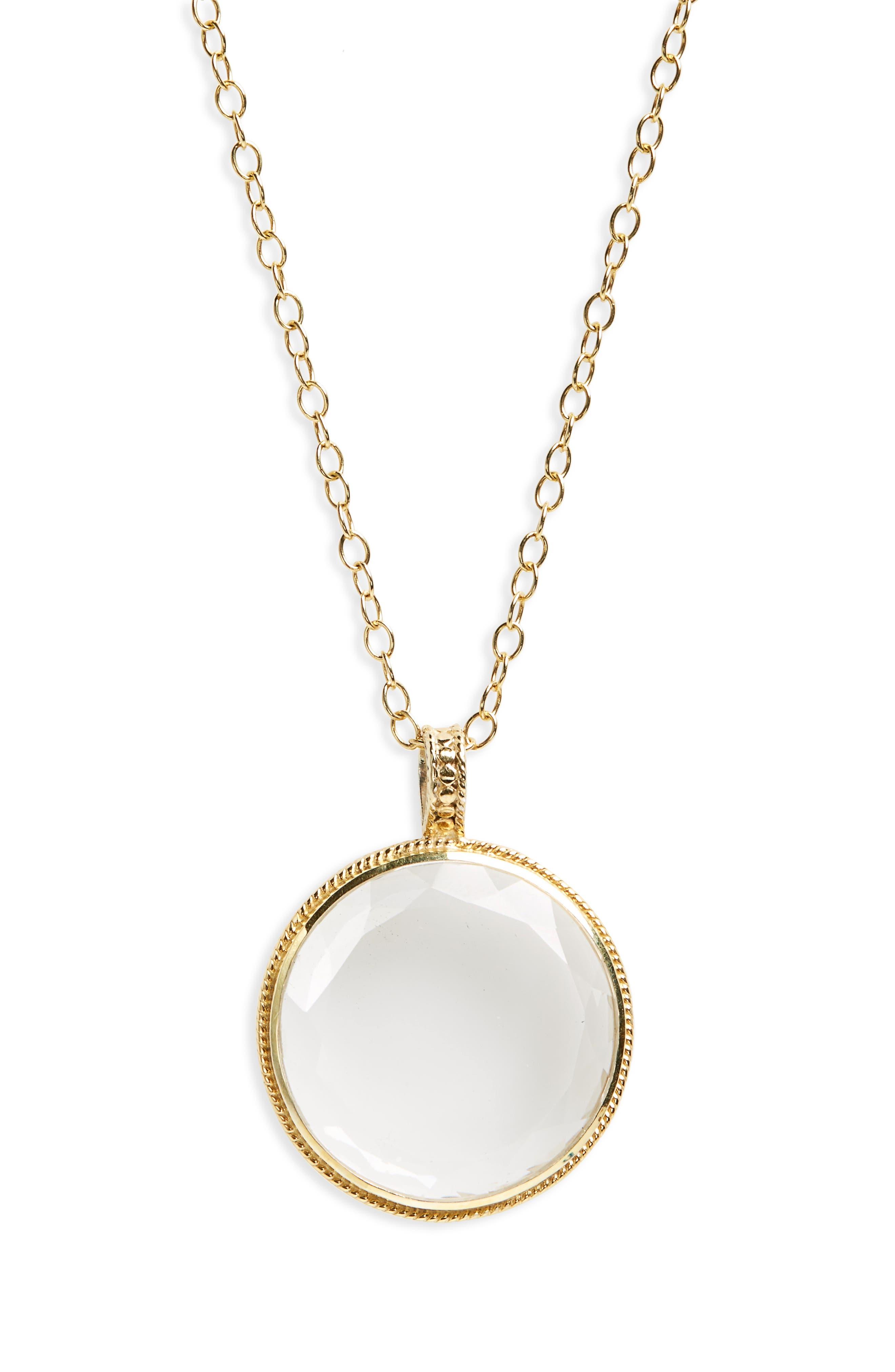 Crystal Quartz Long Pendant Necklace,                             Alternate thumbnail 2, color,                             710