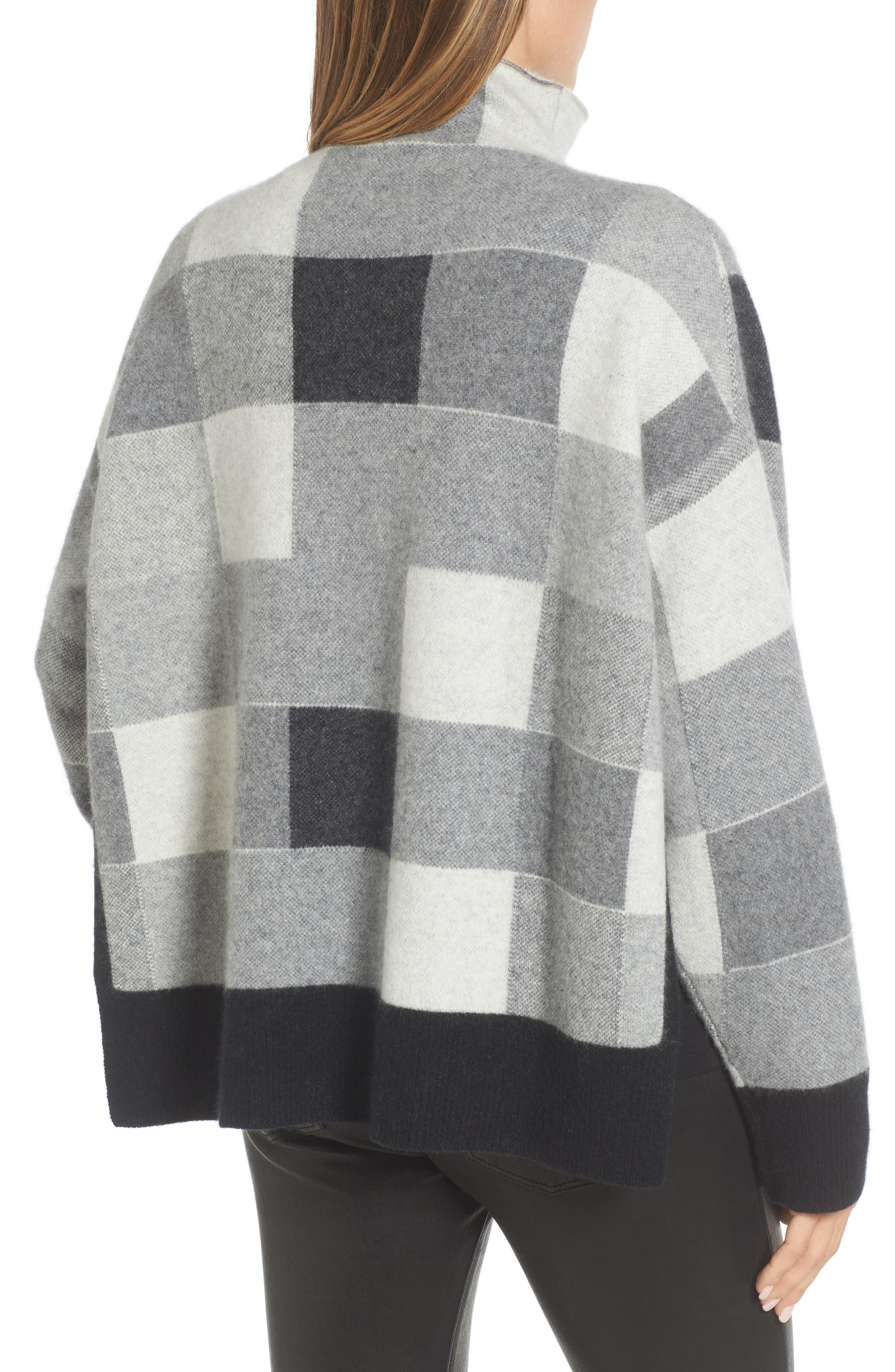 Check Plaid Cashmere Sweater,                             Alternate thumbnail 2, color,