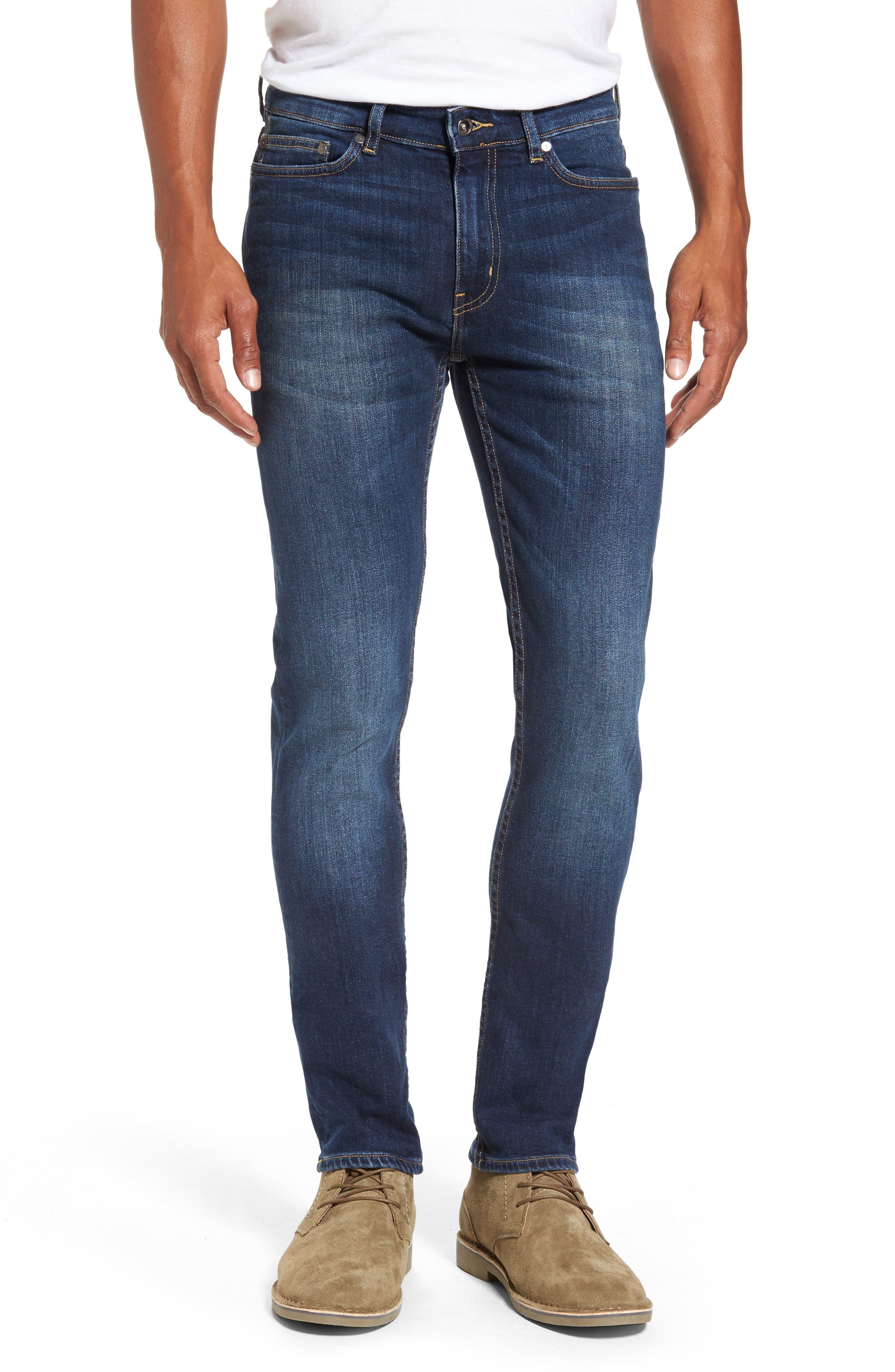 Derbyshire Slim Fit Jeans,                             Main thumbnail 1, color,                             DENIM
