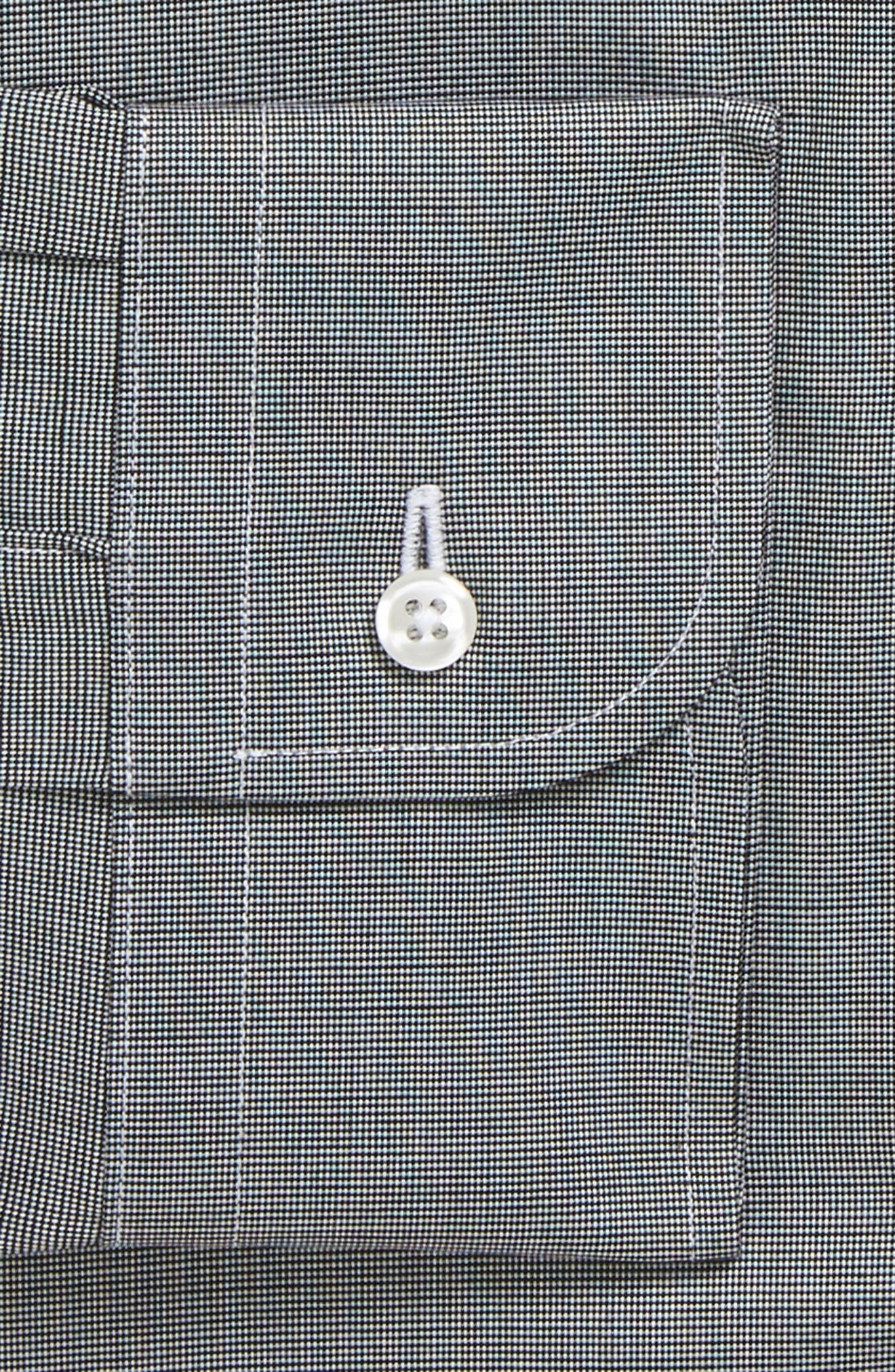 Traditional Fit Non-Iron Solid Dress Shirt,                             Alternate thumbnail 7, color,                             BLACK ROCK
