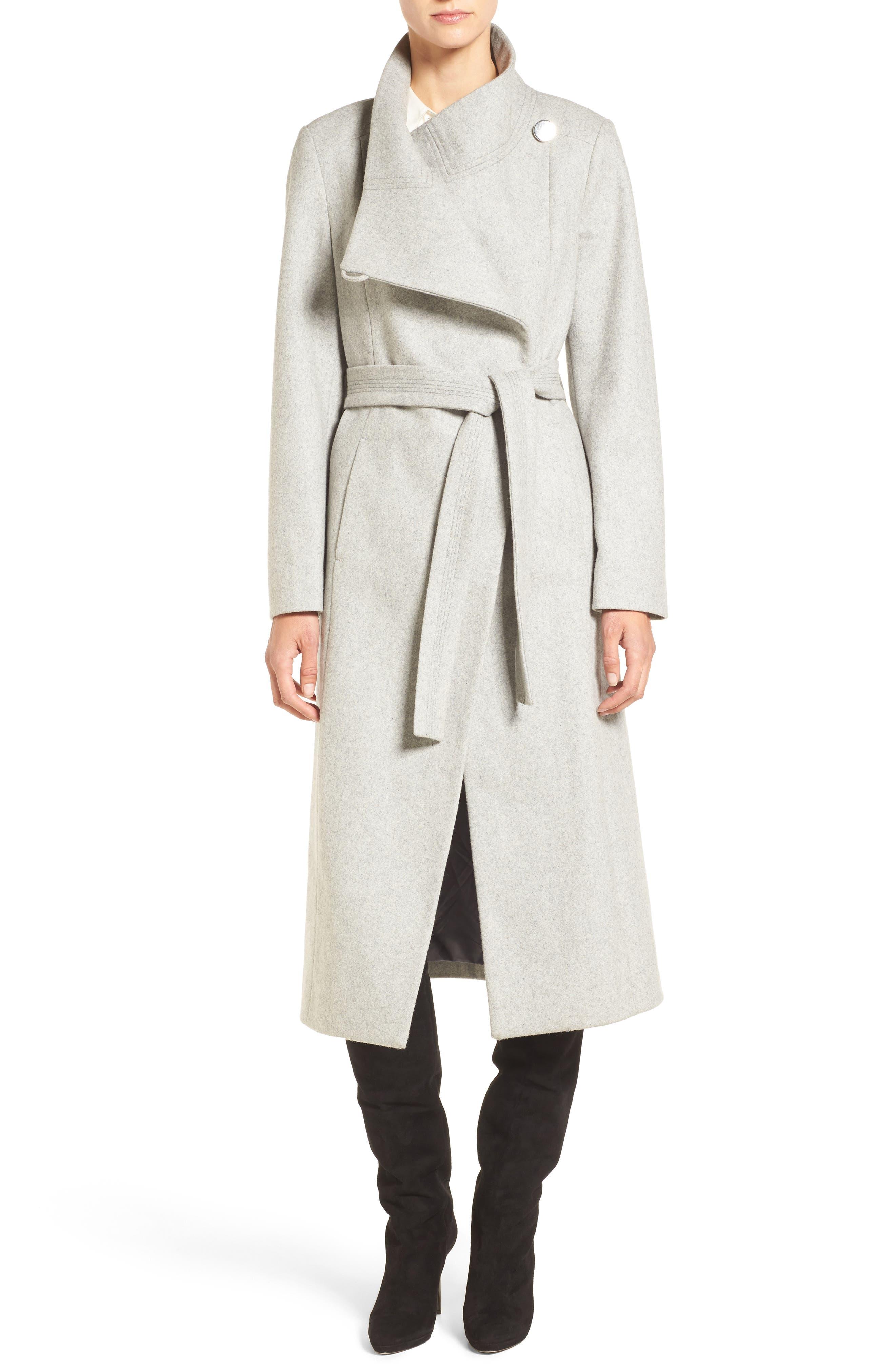 Fencer Melton Wool Maxi Coat, Main, color, GLACIER