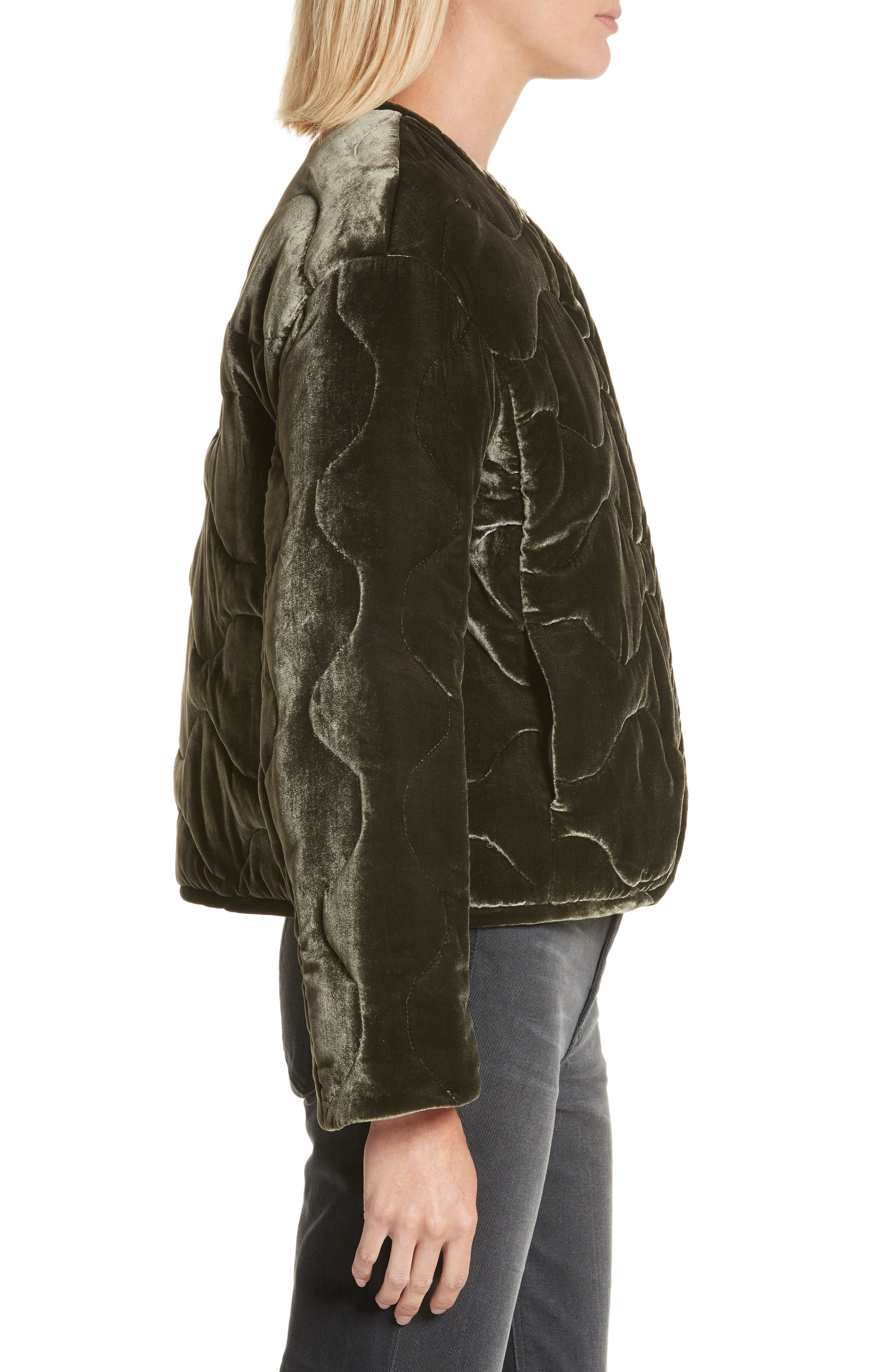 Quilted Velvet Jacket,                             Alternate thumbnail 3, color,                             301