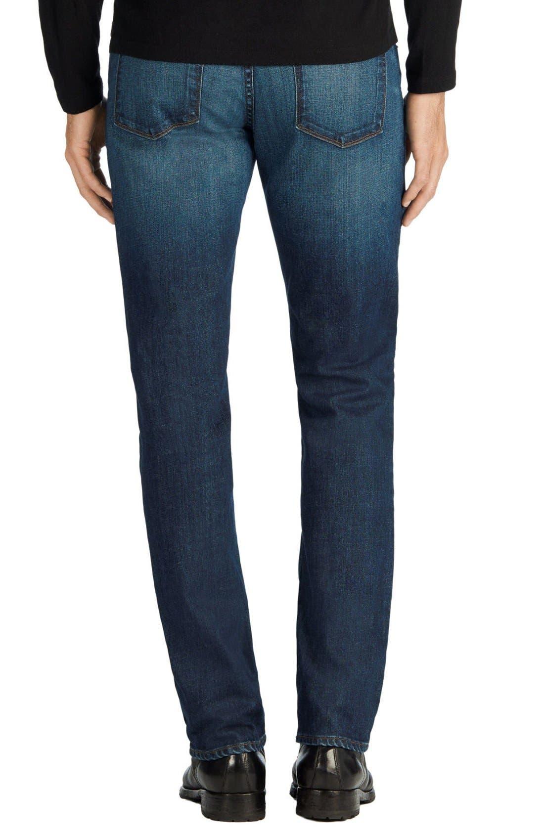 Tyler Slim Fit Jeans,                             Alternate thumbnail 5, color,                             DIRAN BLUE
