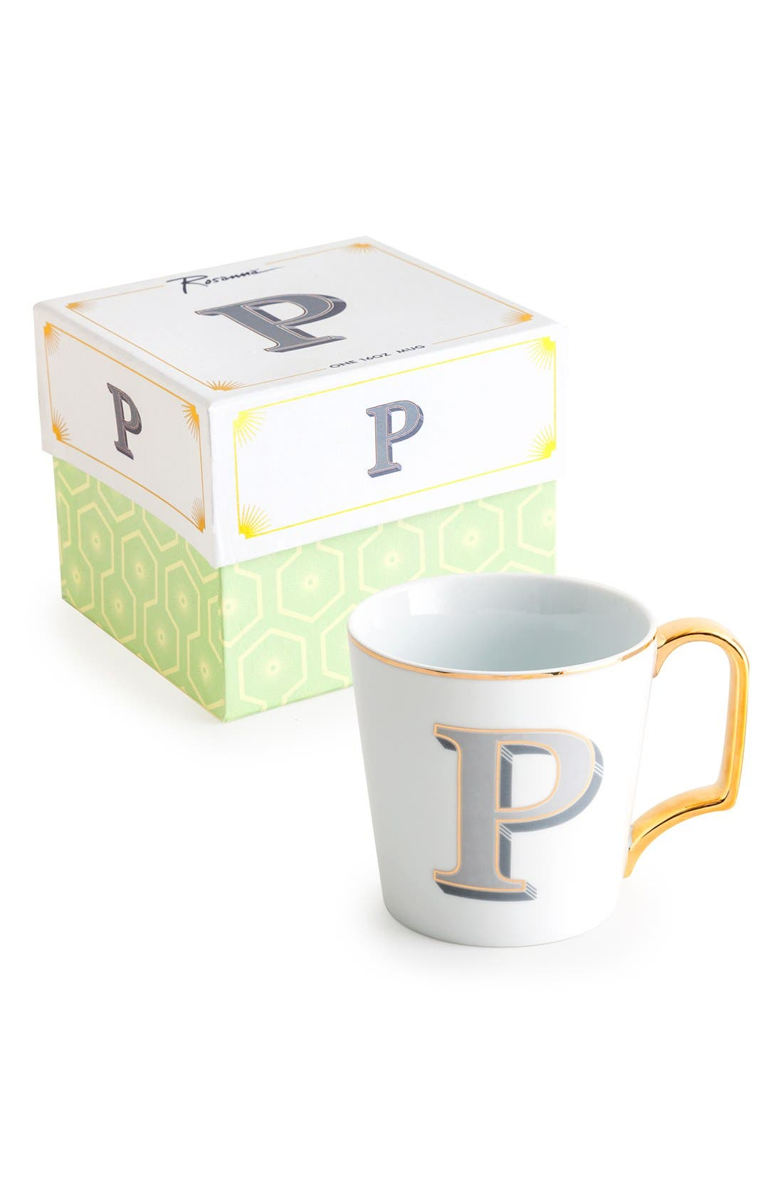 Monogram Porcelain Coffee Mug,                             Main thumbnail 14, color,