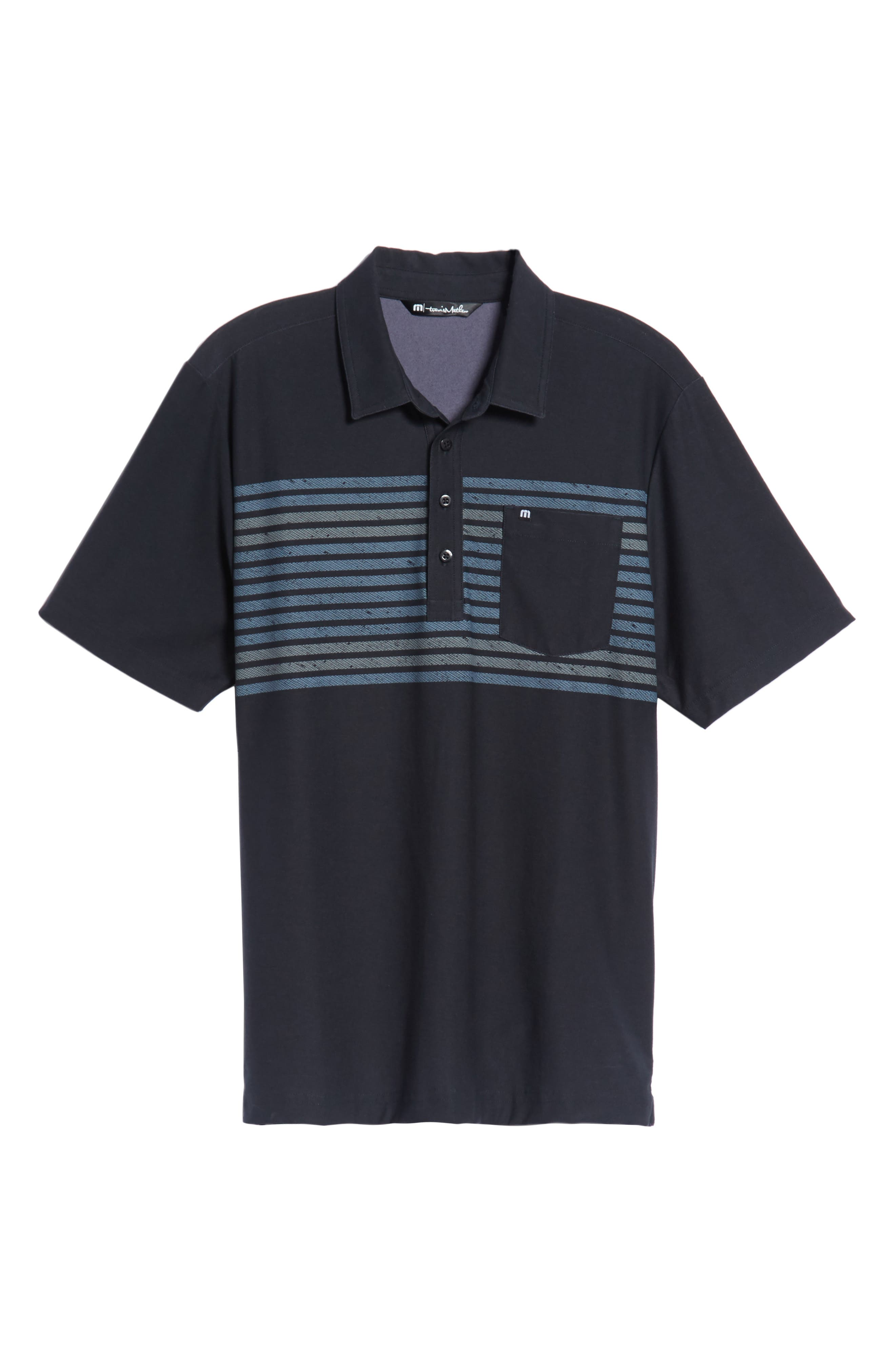 Sweet Lu Regular Fit Polo,                             Alternate thumbnail 6, color,                             BLACK/ GRISAILLE