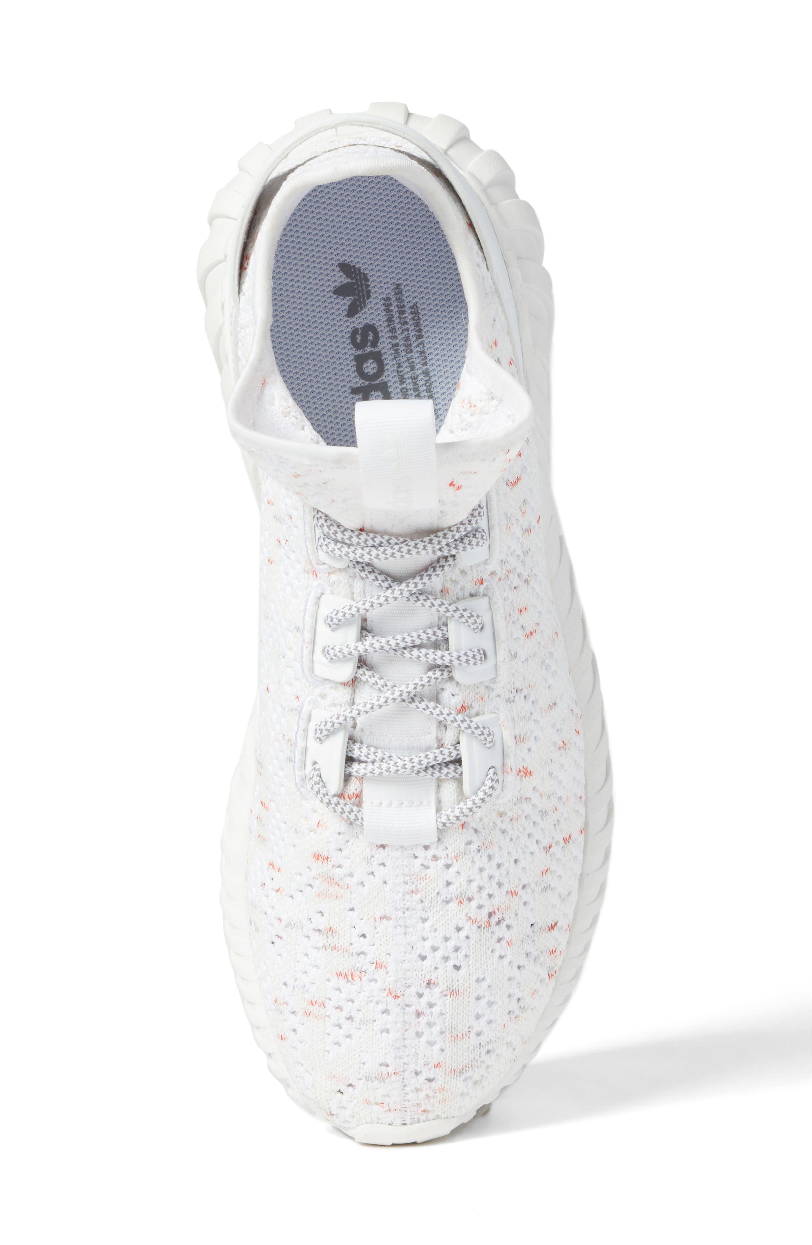 Tubular Doom Sock Primeknit Sneaker,                             Alternate thumbnail 5, color,                             020