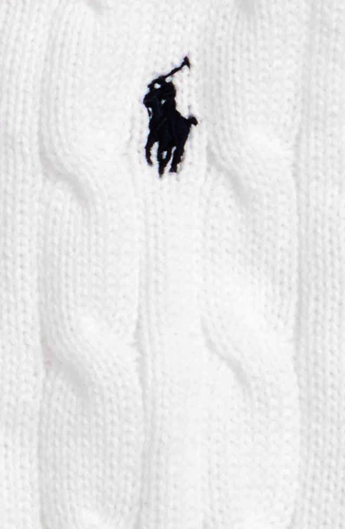 Cable Knit Cotton Sweater Vest,                             Alternate thumbnail 2, color,                             100