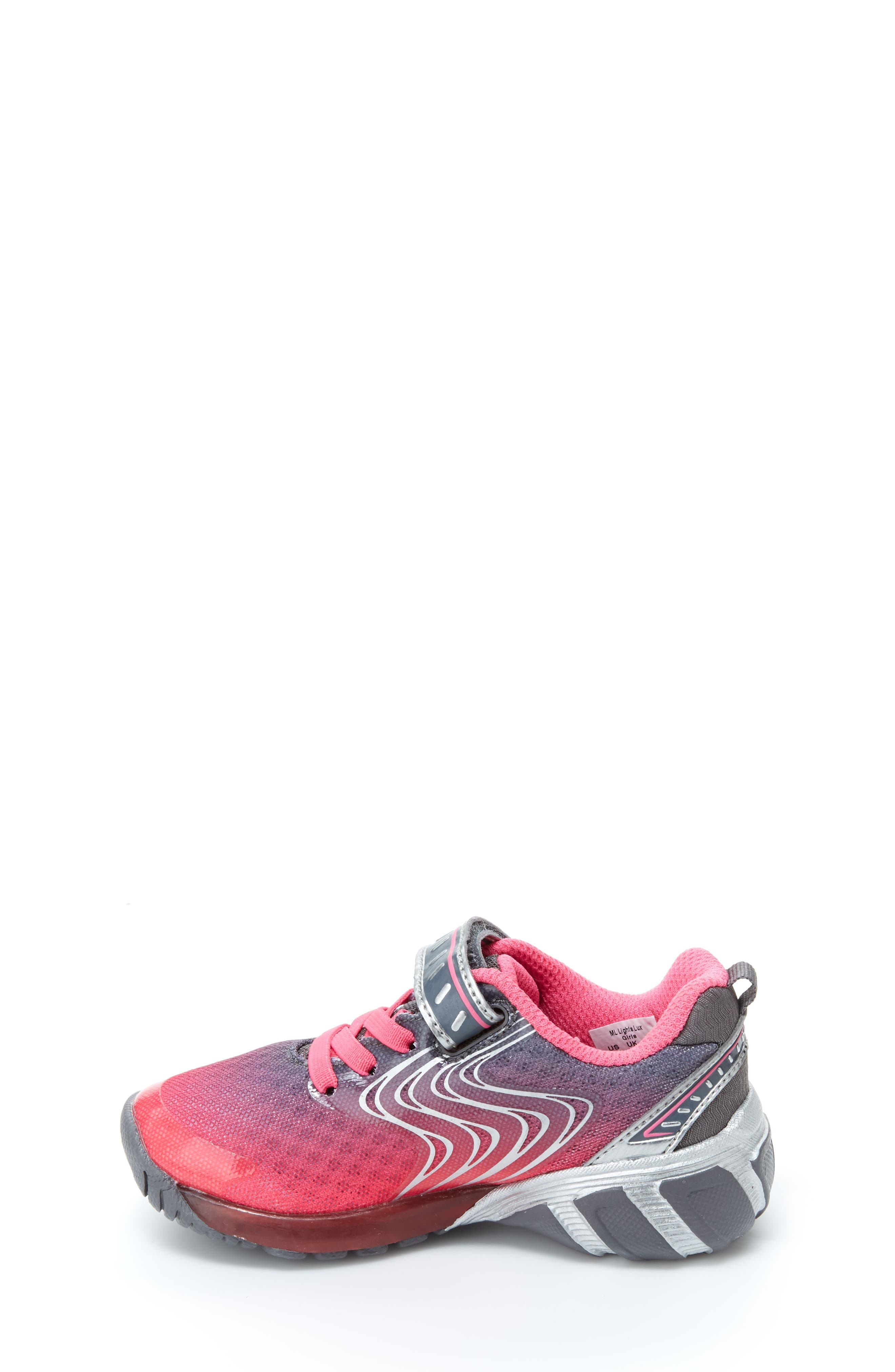 Lights Lux Light-Up Sneaker,                             Alternate thumbnail 9, color,                             PINK SYNTHETIC/ TEXTILE
