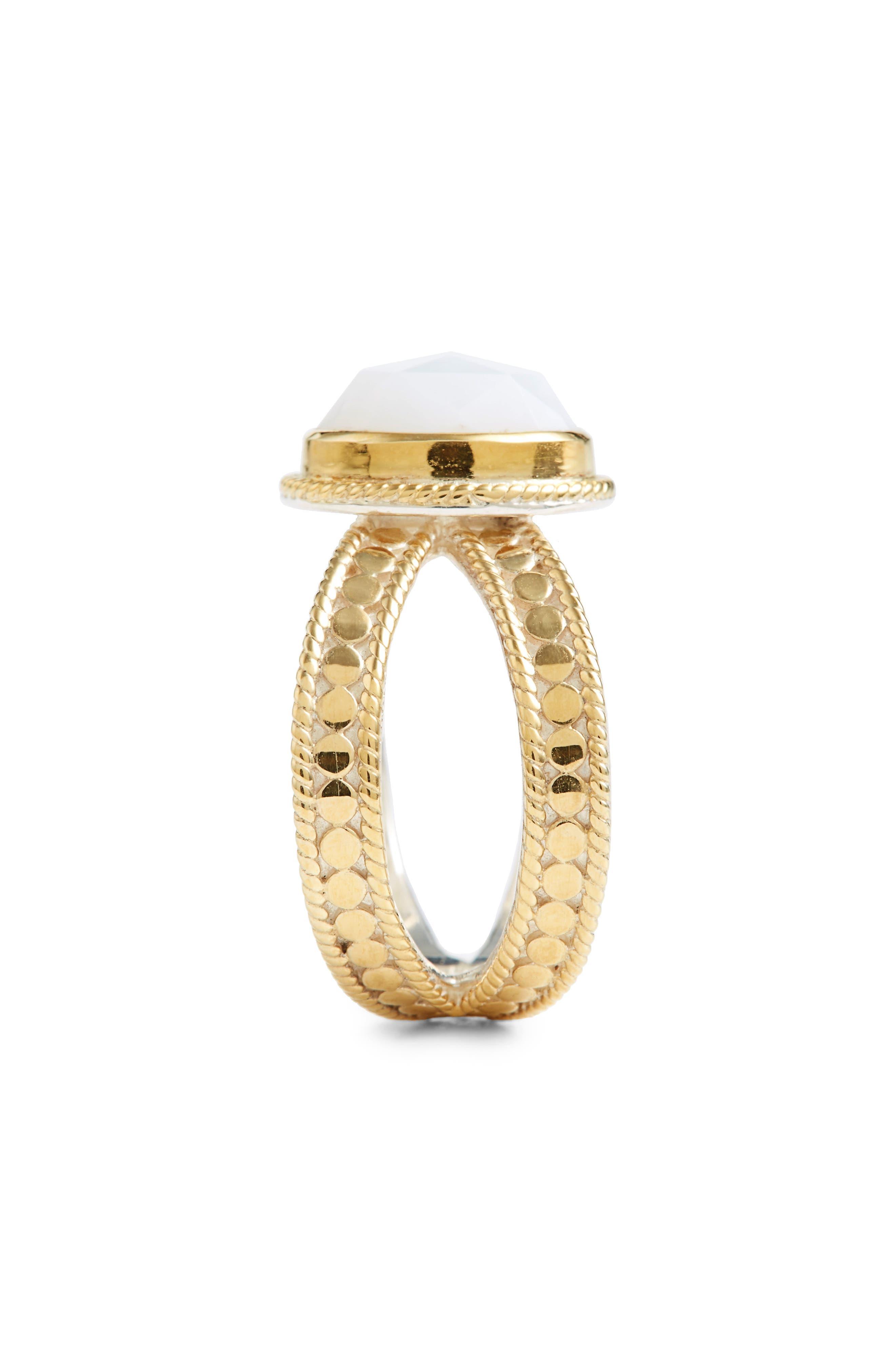 ANNA BECK,                             White Opal Cross Ring,                             Alternate thumbnail 2, color,                             710