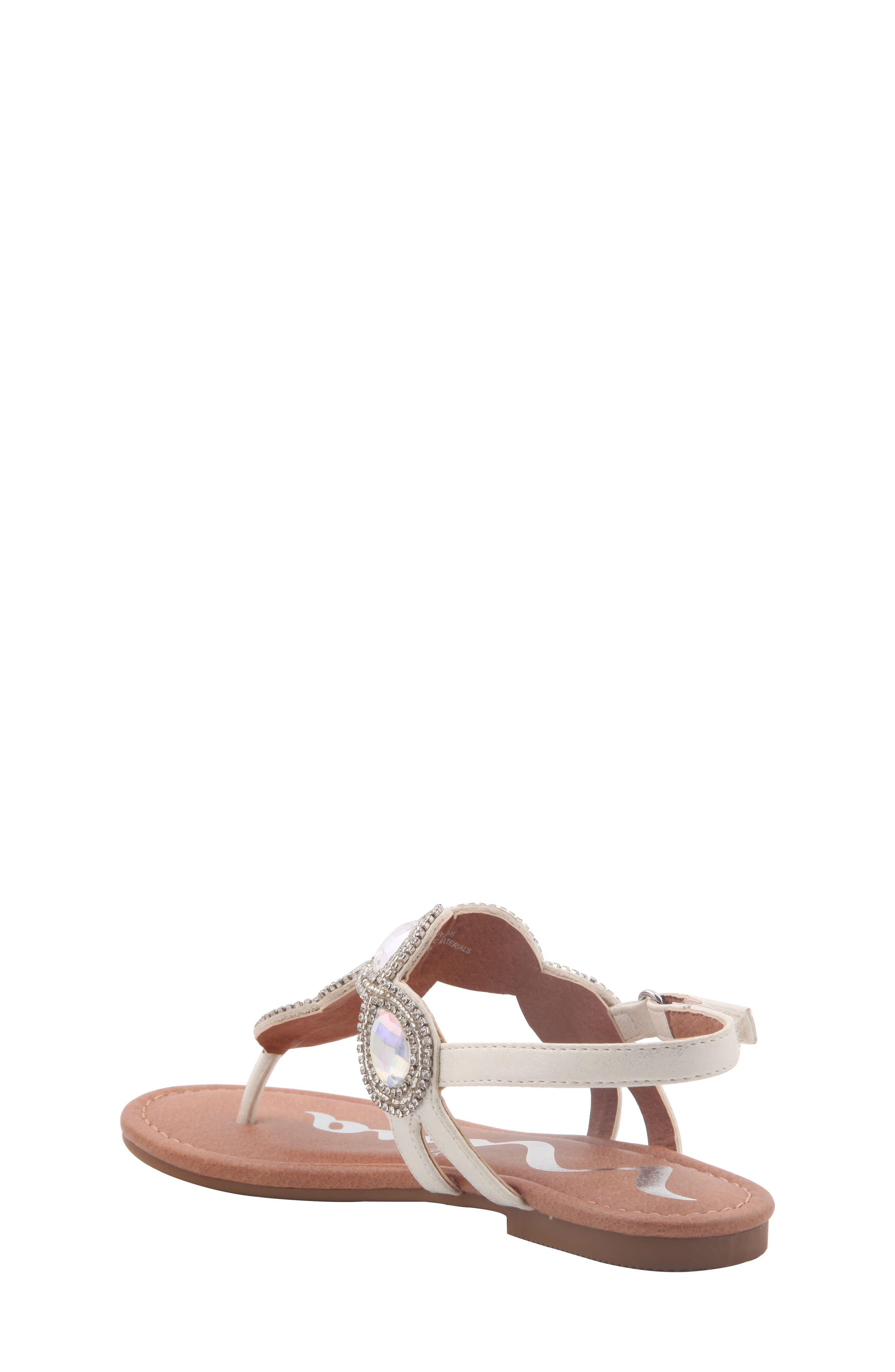 Elicia Embellished T-Strap Sandal,                             Alternate thumbnail 2, color,                             SILVER METALLIC