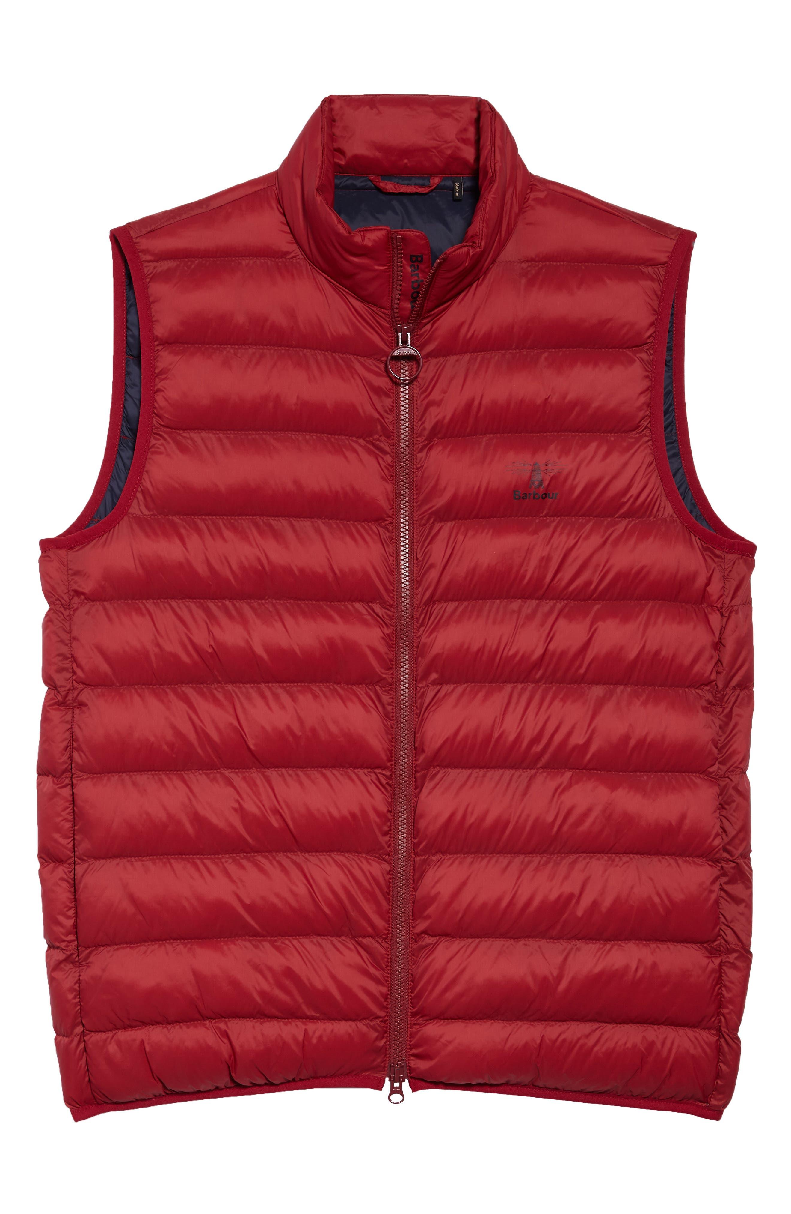 Askham Quilted Vest,                             Alternate thumbnail 5, color,                             BIKING RED
