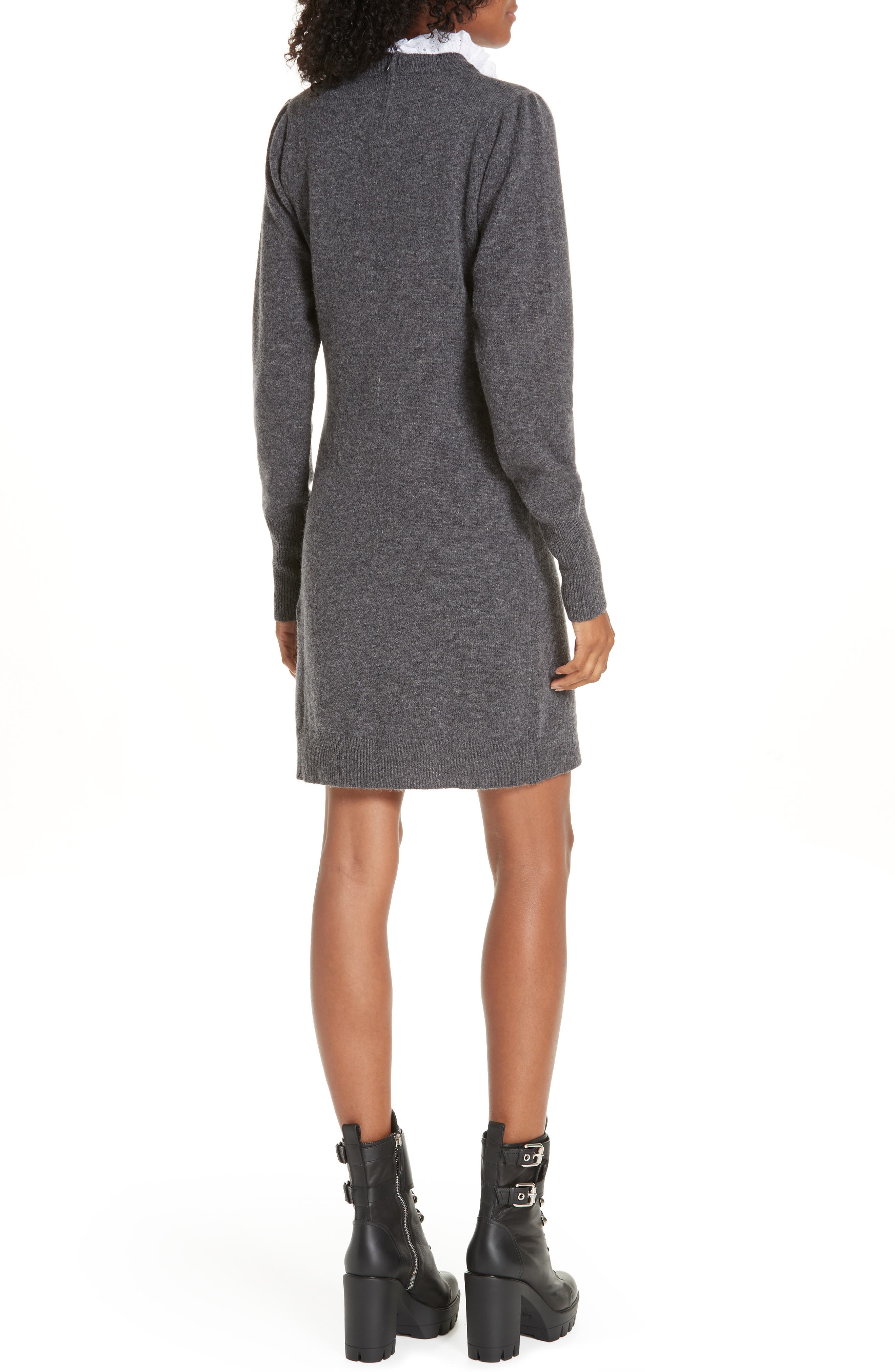 Ancolie Eyelet Collar Sweater Dress,                             Alternate thumbnail 2, color,                             020