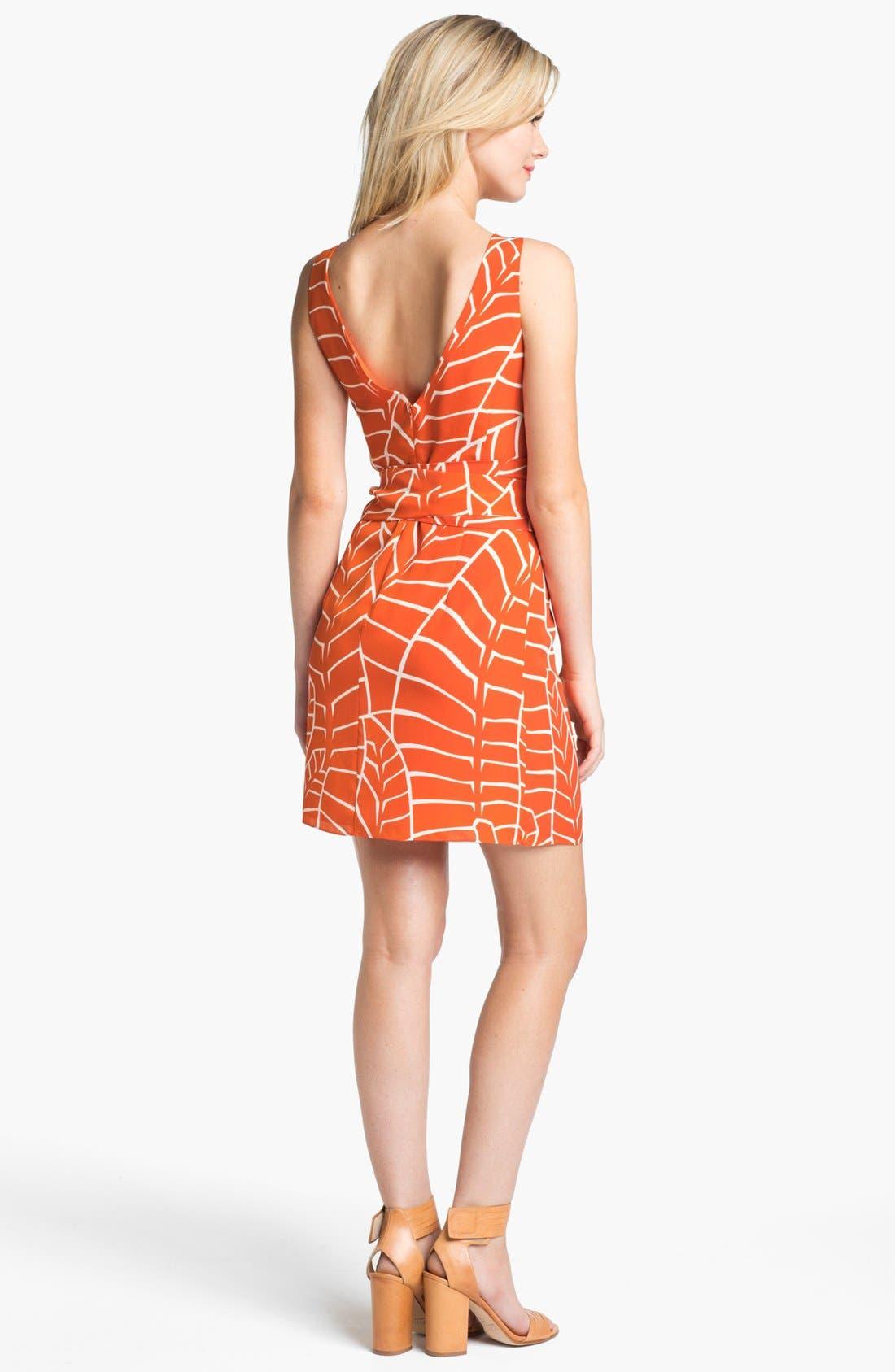 Sleeveless Print Dress,                             Alternate thumbnail 2, color,                             810