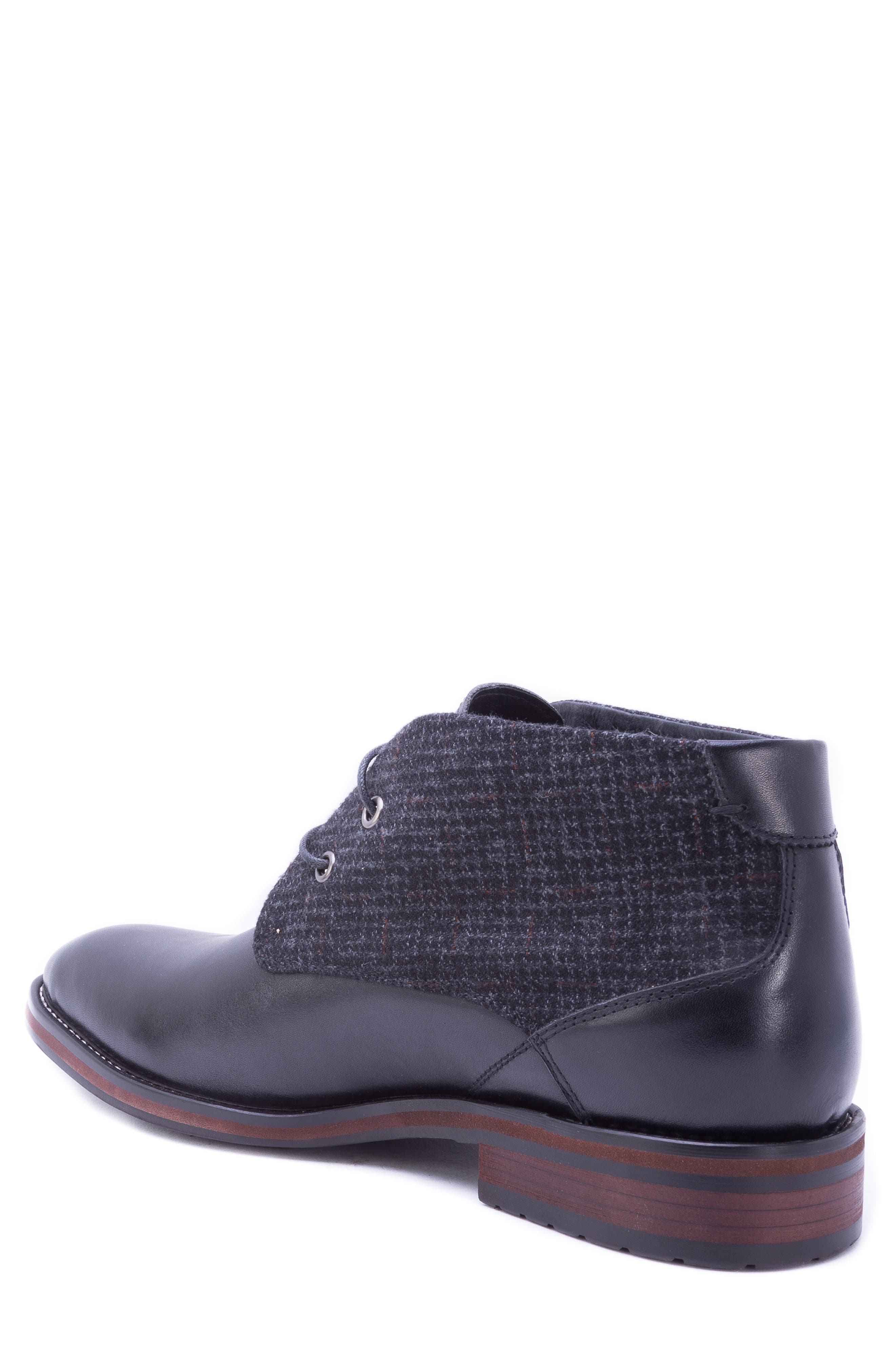Nebot Chukka Boot,                             Alternate thumbnail 2, color,                             BLACK LEATHER/ FABRIC