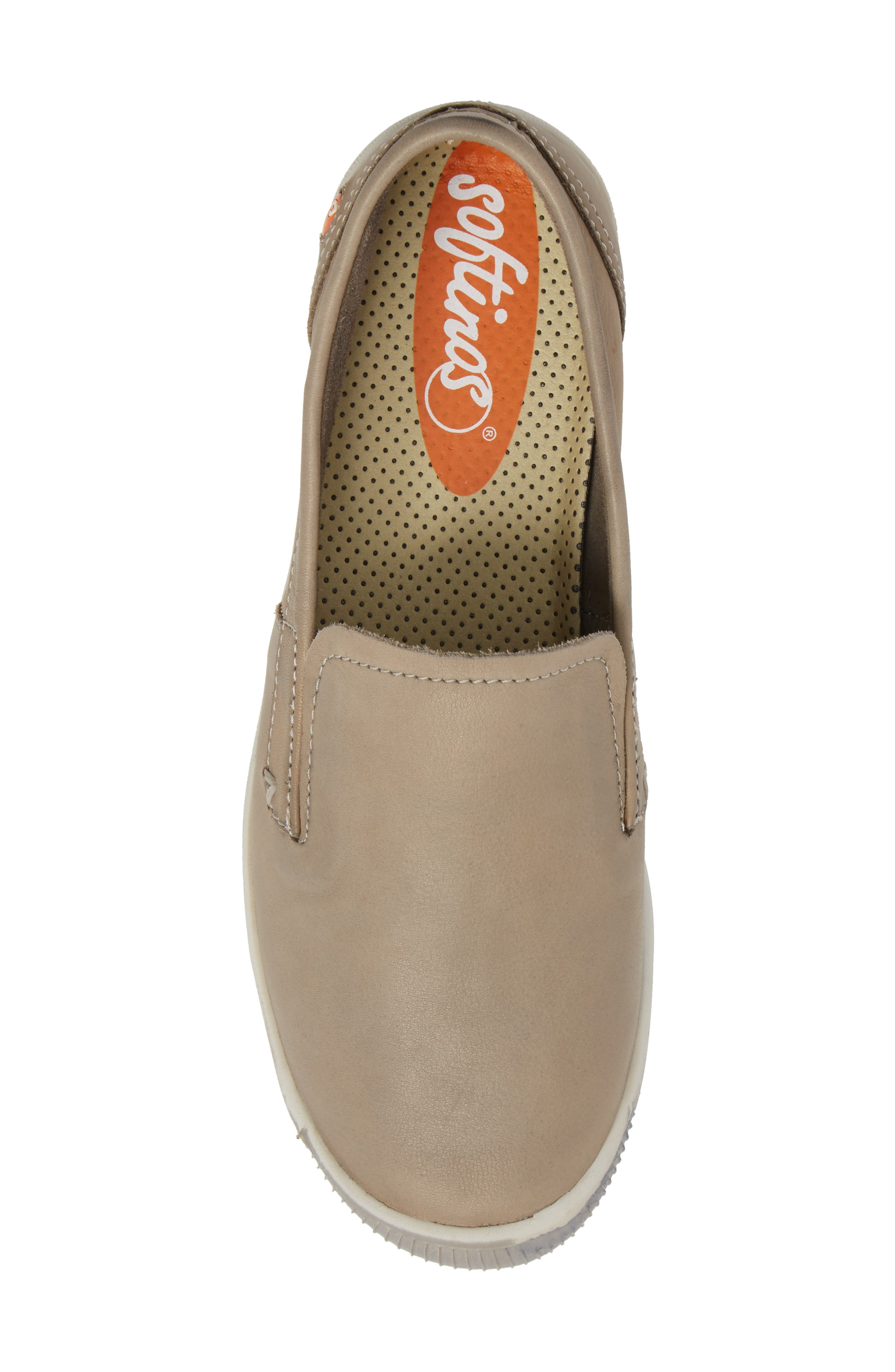 Ita Slip-On Sneaker,                             Alternate thumbnail 5, color,                             TAUPE/ TAUPE LEATHER